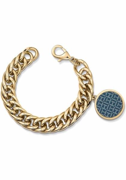 Armbaender für Frauen - TOMMY HILFIGER Armband 'Classic Signature, 2700973' taubenblau gold  - Onlineshop ABOUT YOU