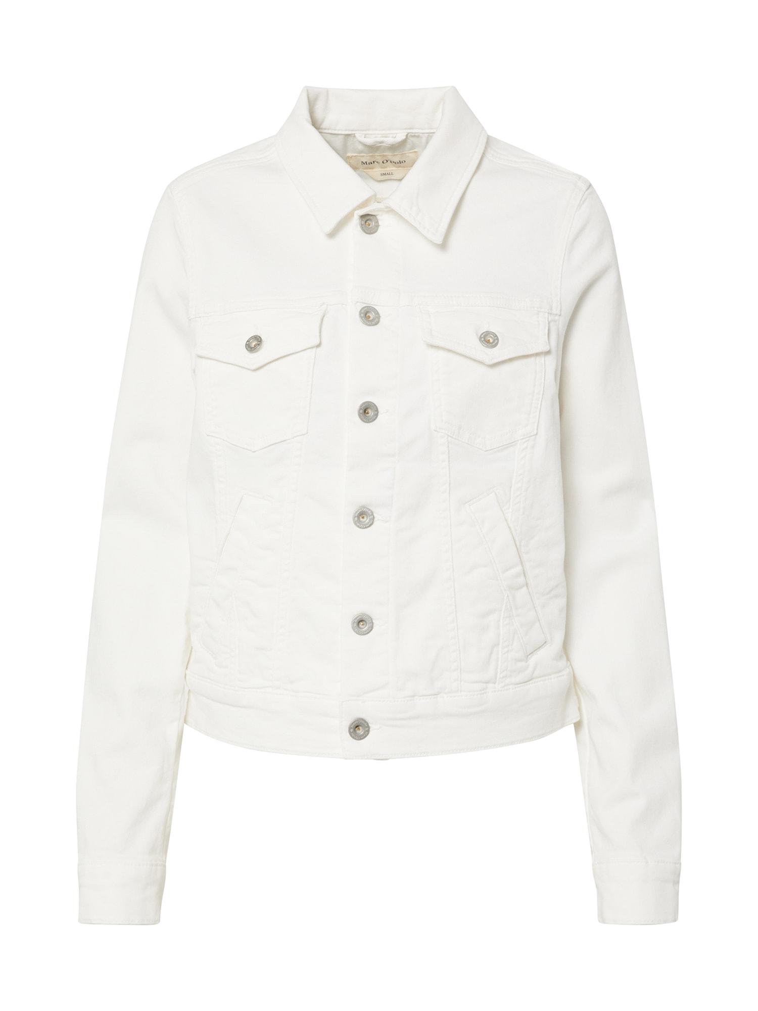Marc O'Polo Demisezoninė striukė balta / balto džinso spalva