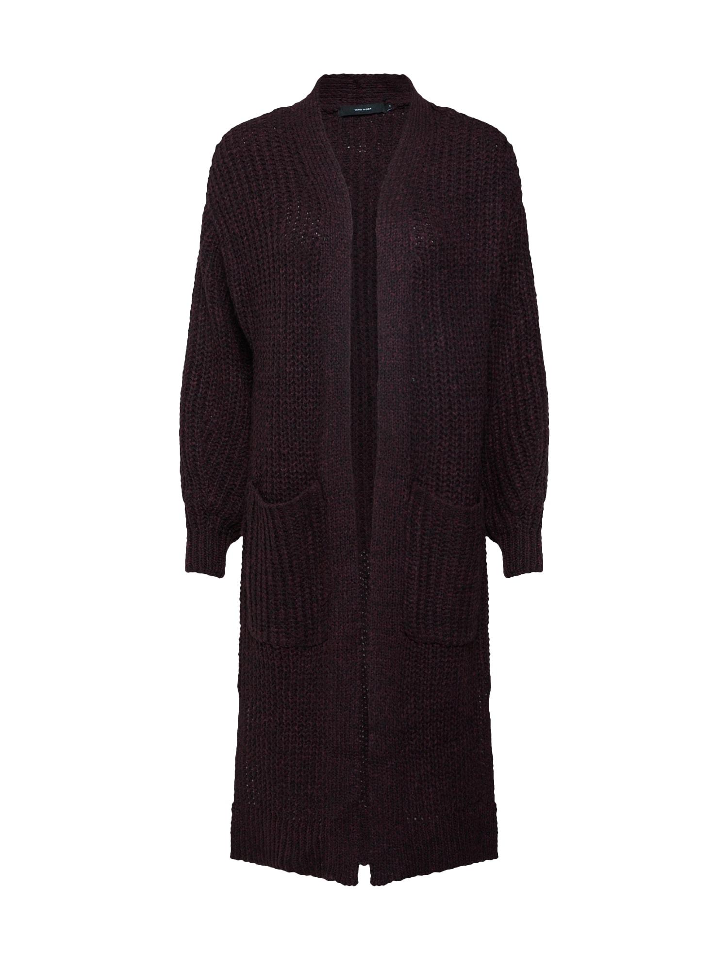 Pletený kabátek LICA vínově červená černá VERO MODA