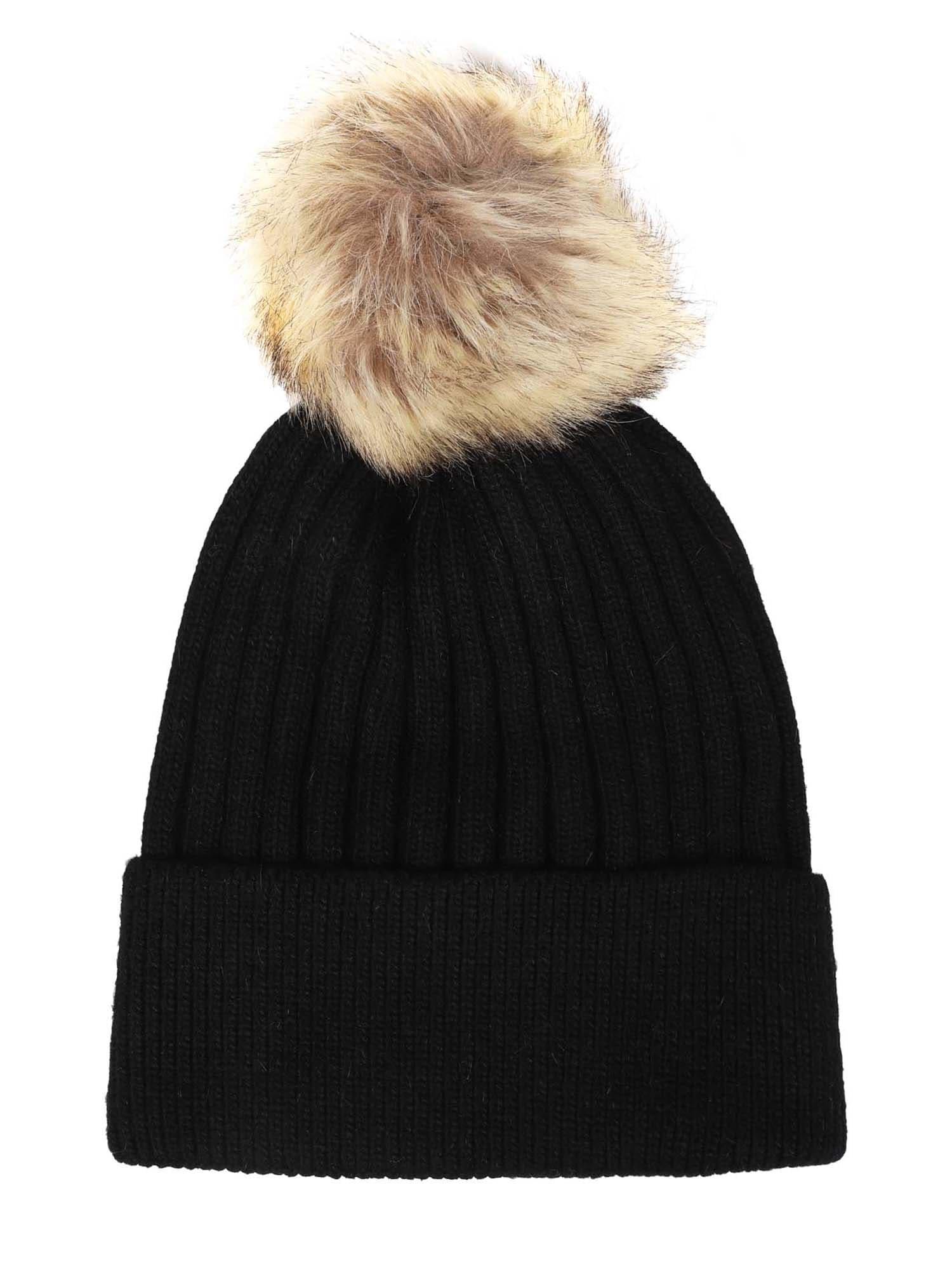 ABOUT YOU Megzta kepurė 'Theresa' juoda