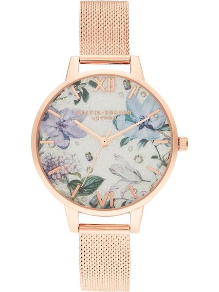 Uhren für Frauen - Uhr 'Bejewelled Florals' › Olivia Burton › beige hellblau bronze  - Onlineshop ABOUT YOU