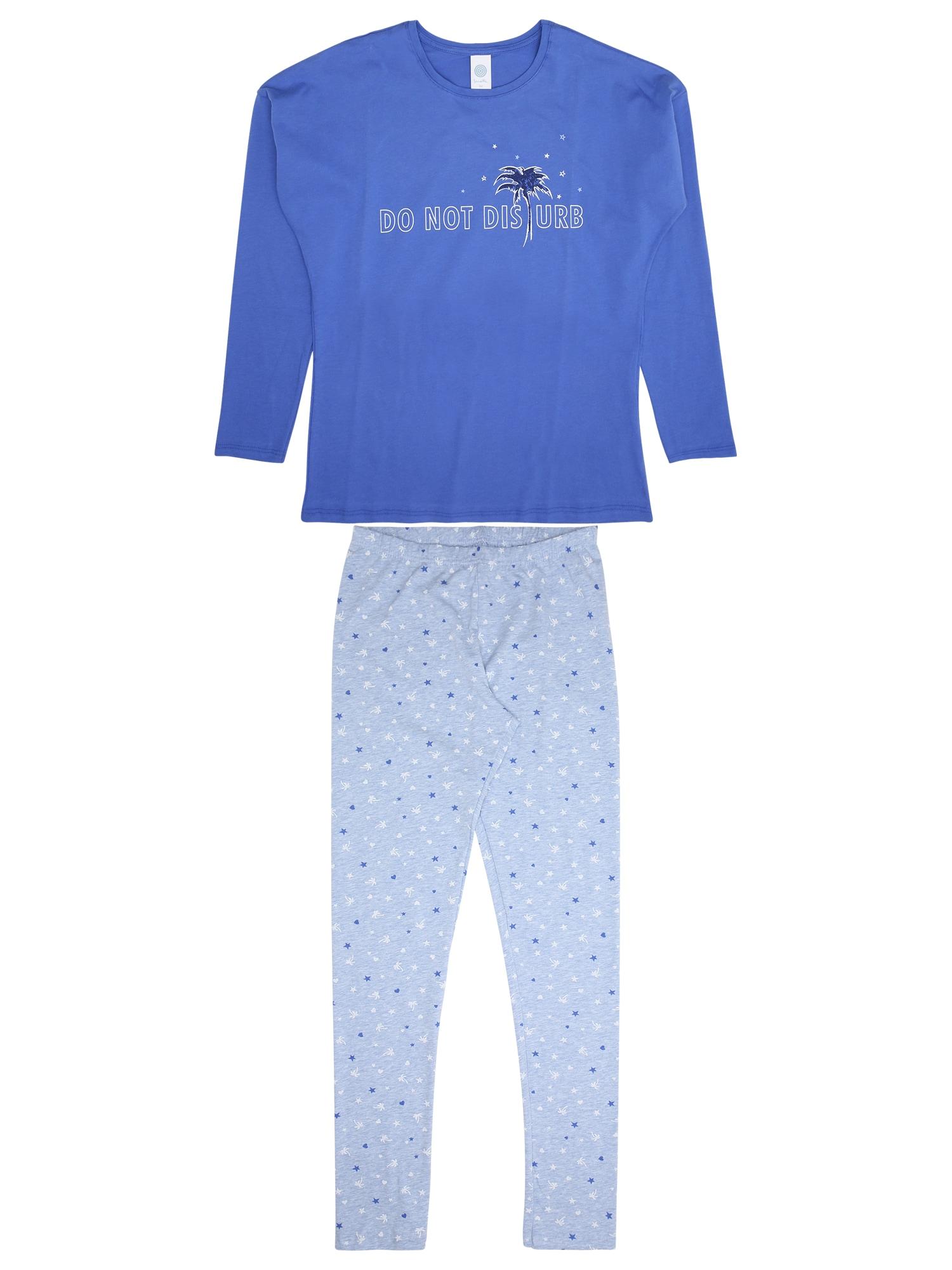 Pyžamo modrá světlemodrá bílá SANETTA