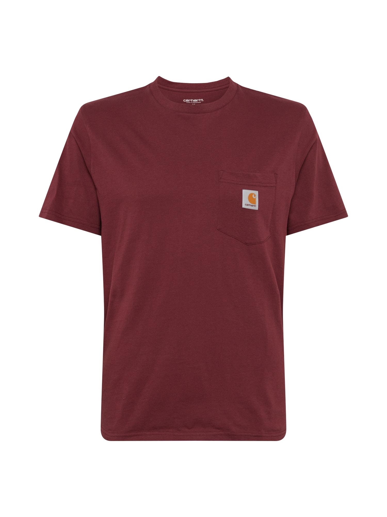 Carhartt WIP Marškinėliai vyno raudona spalva