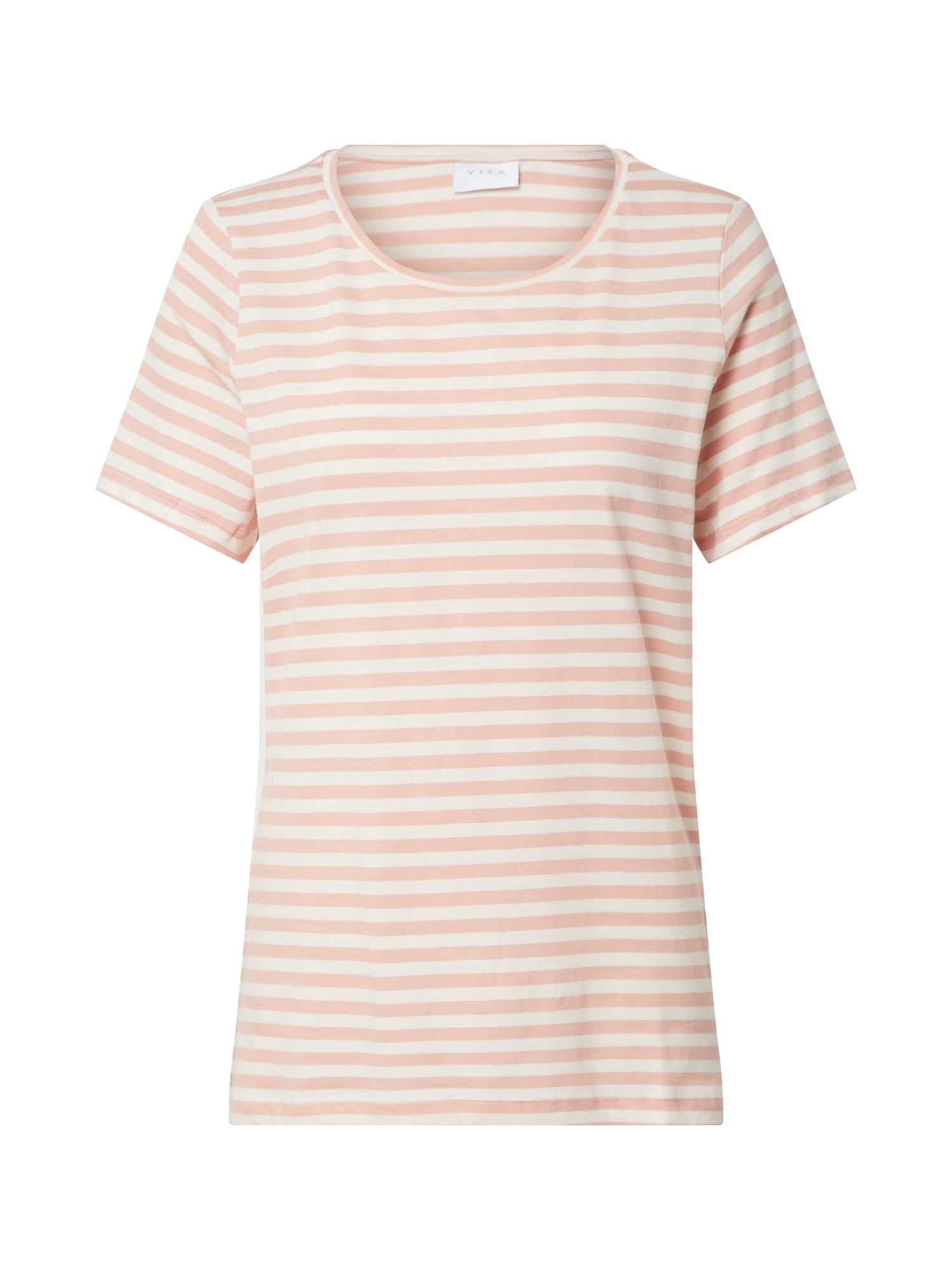 VILA Póló  rózsaszín / fehér