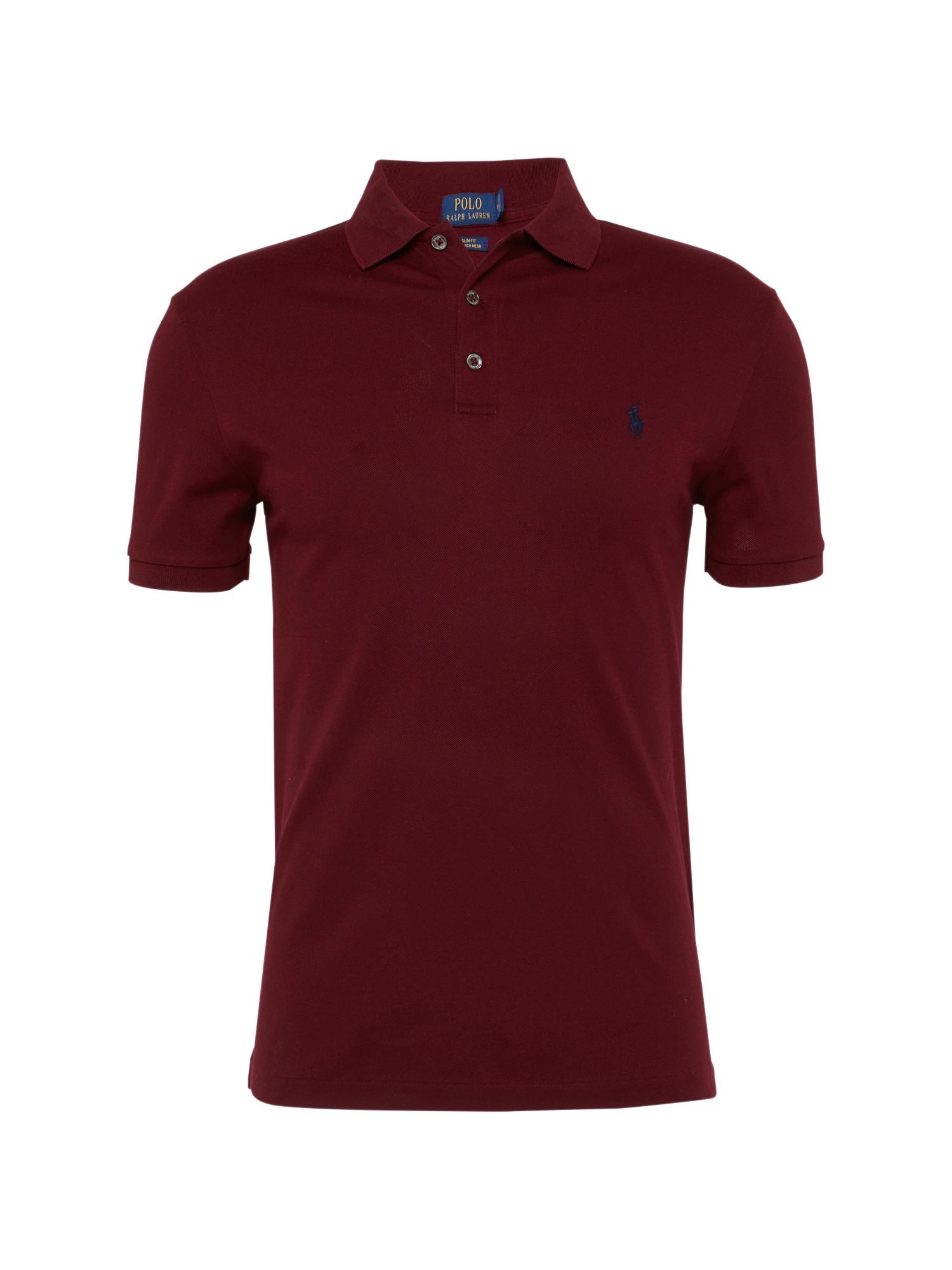 POLO RALPH LAUREN Marškinėliai vyno raudona spalva