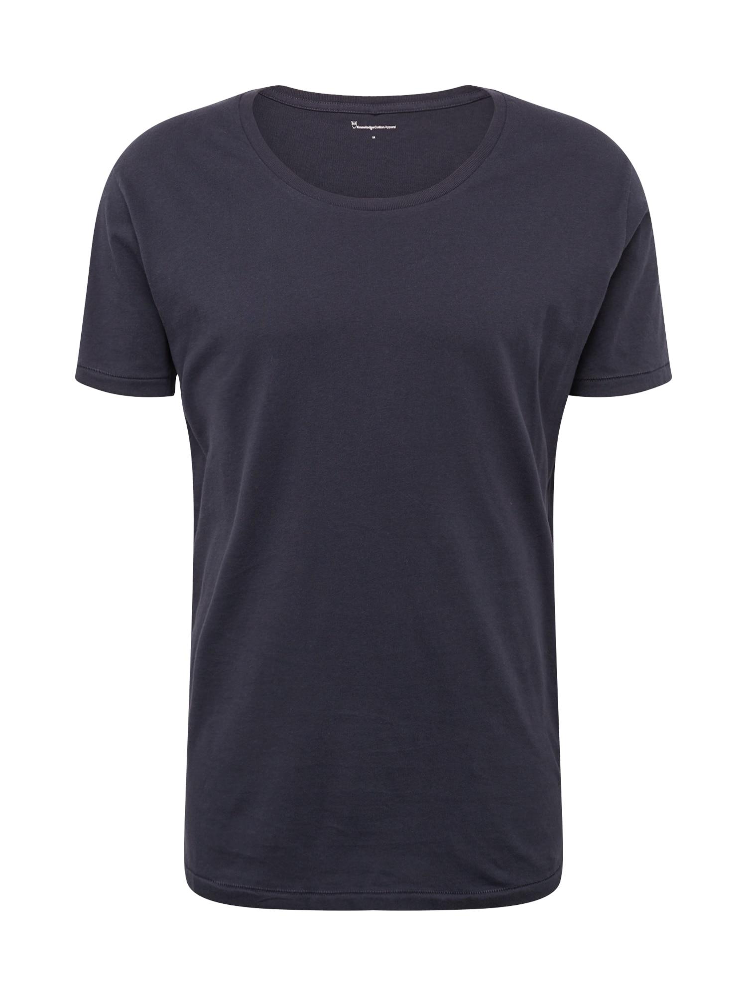 Tričko tmavě modrá KnowledgeCotton Apparel