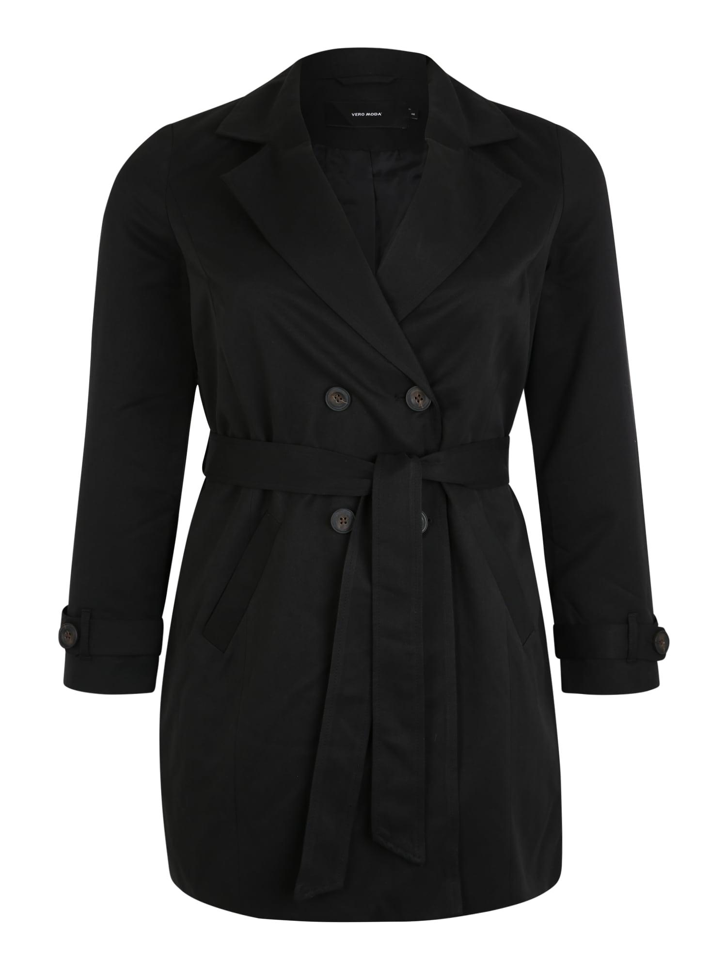 Vero Moda Curve Rudeninis-žieminis paltas 'VMBERTA 3/4 JACKET CURVE' juoda