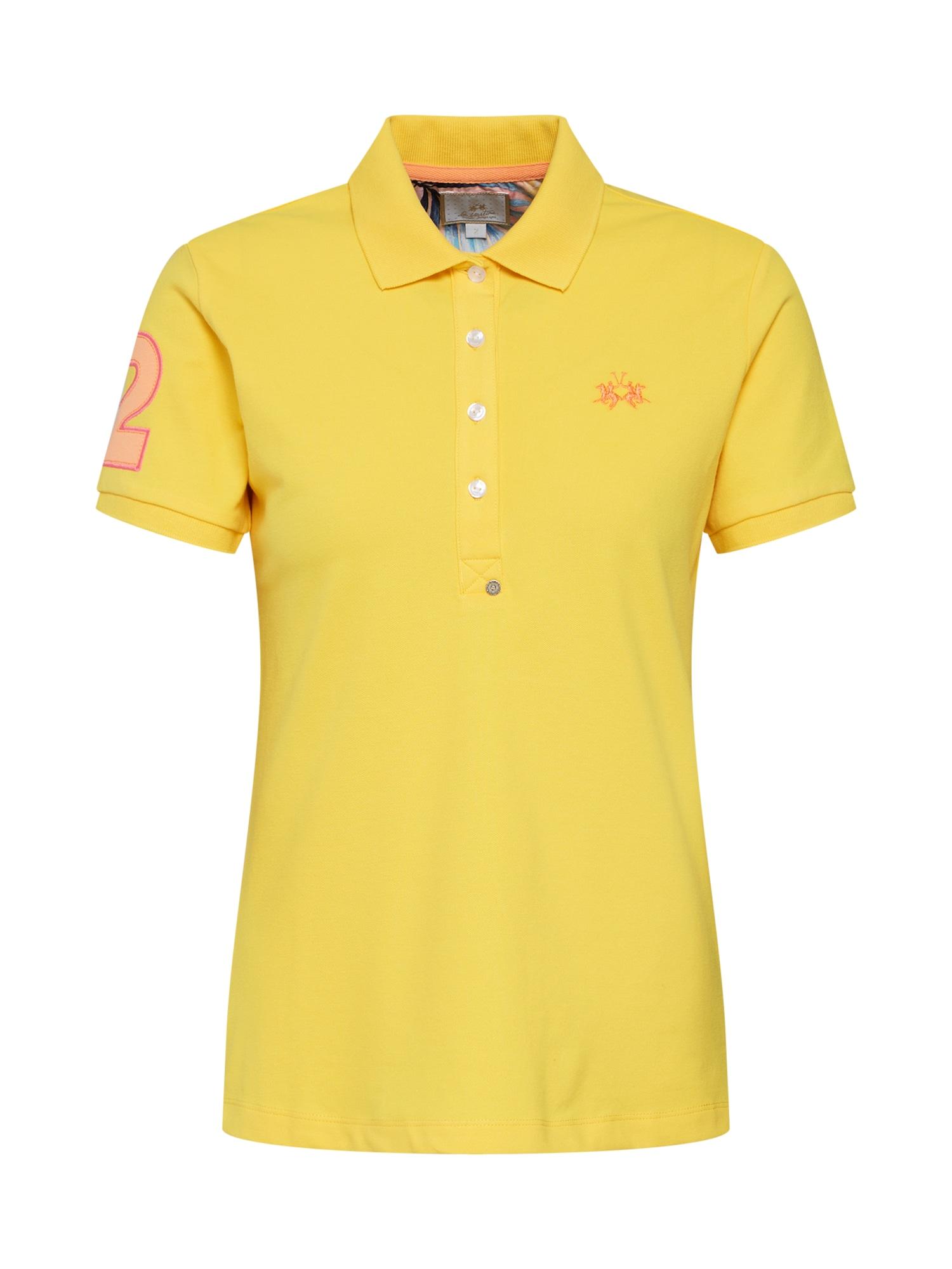 Tričko WOMAN POLO PIQUET STRETCH žlutá La Martina