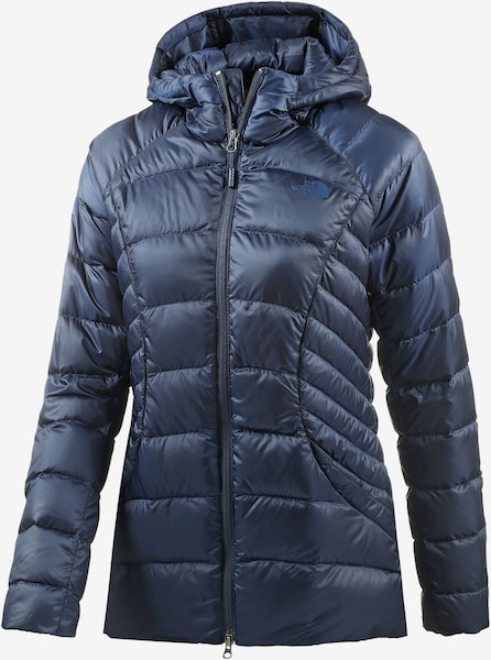 the north face tonnerro daunenjacke damen in navy about you. Black Bedroom Furniture Sets. Home Design Ideas