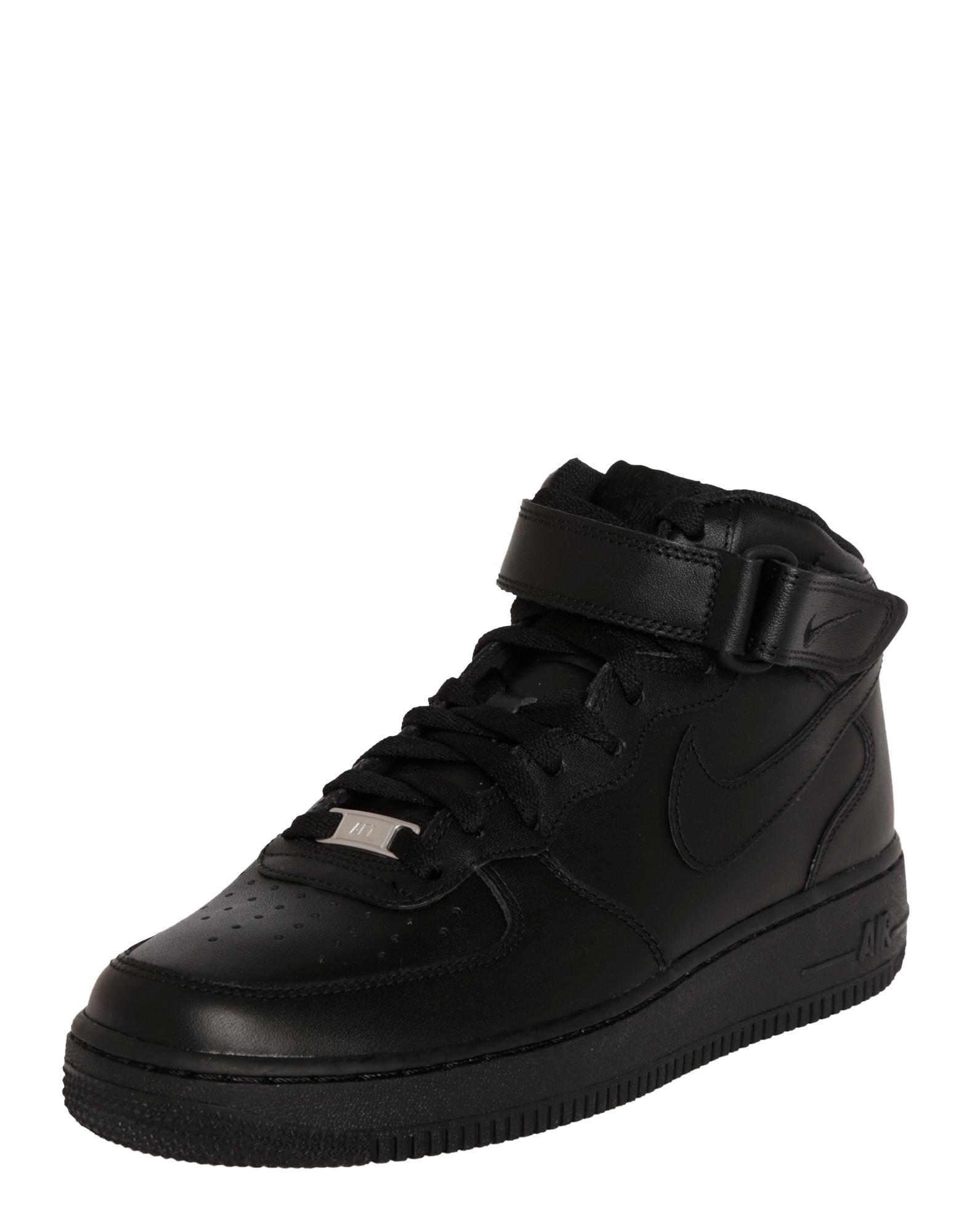 Nike Sportswear Sportbačiai su auliuku 'Air Force Mid' juoda