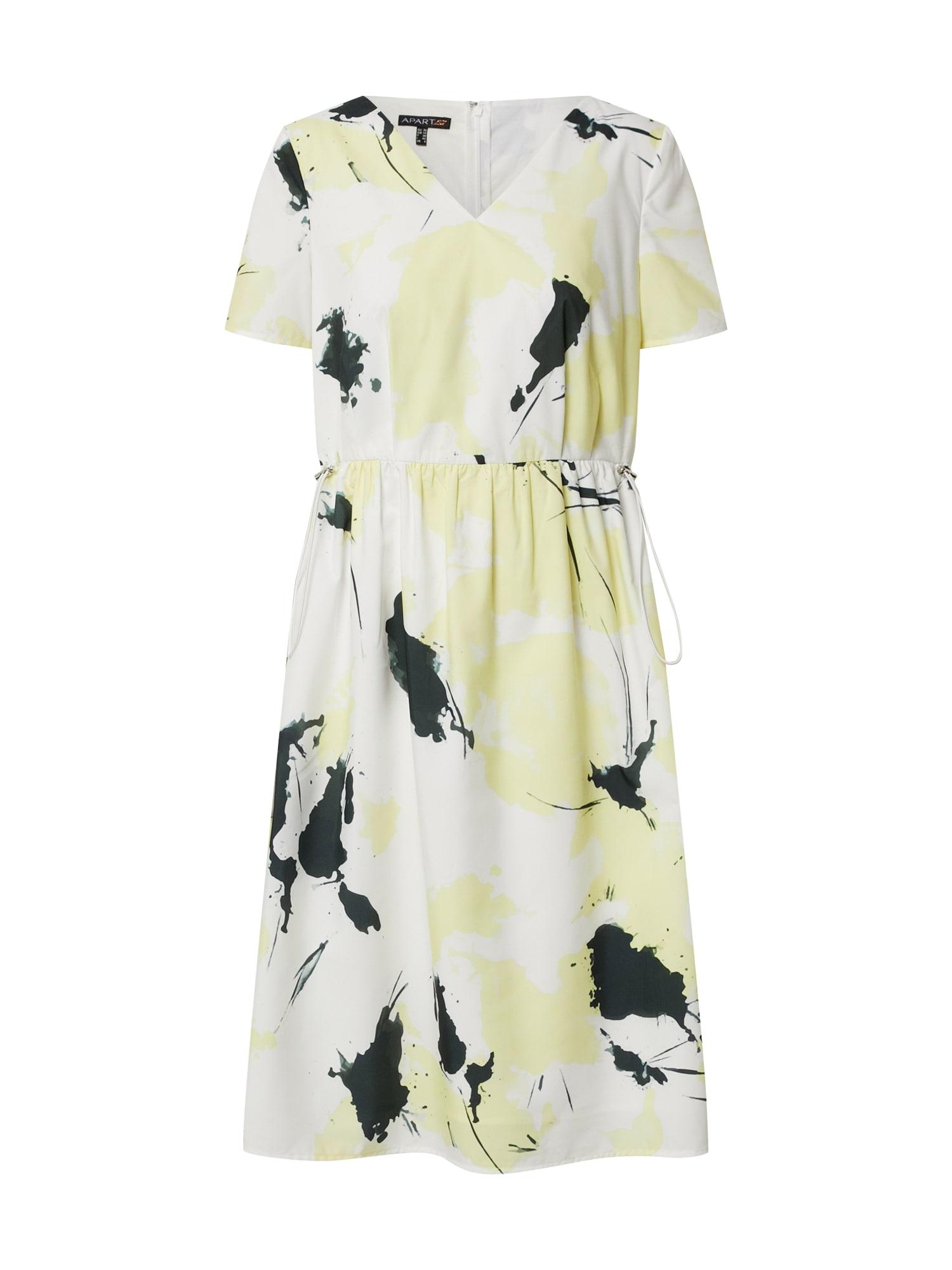 APART Vasarinė suknelė balta / geltona / juoda