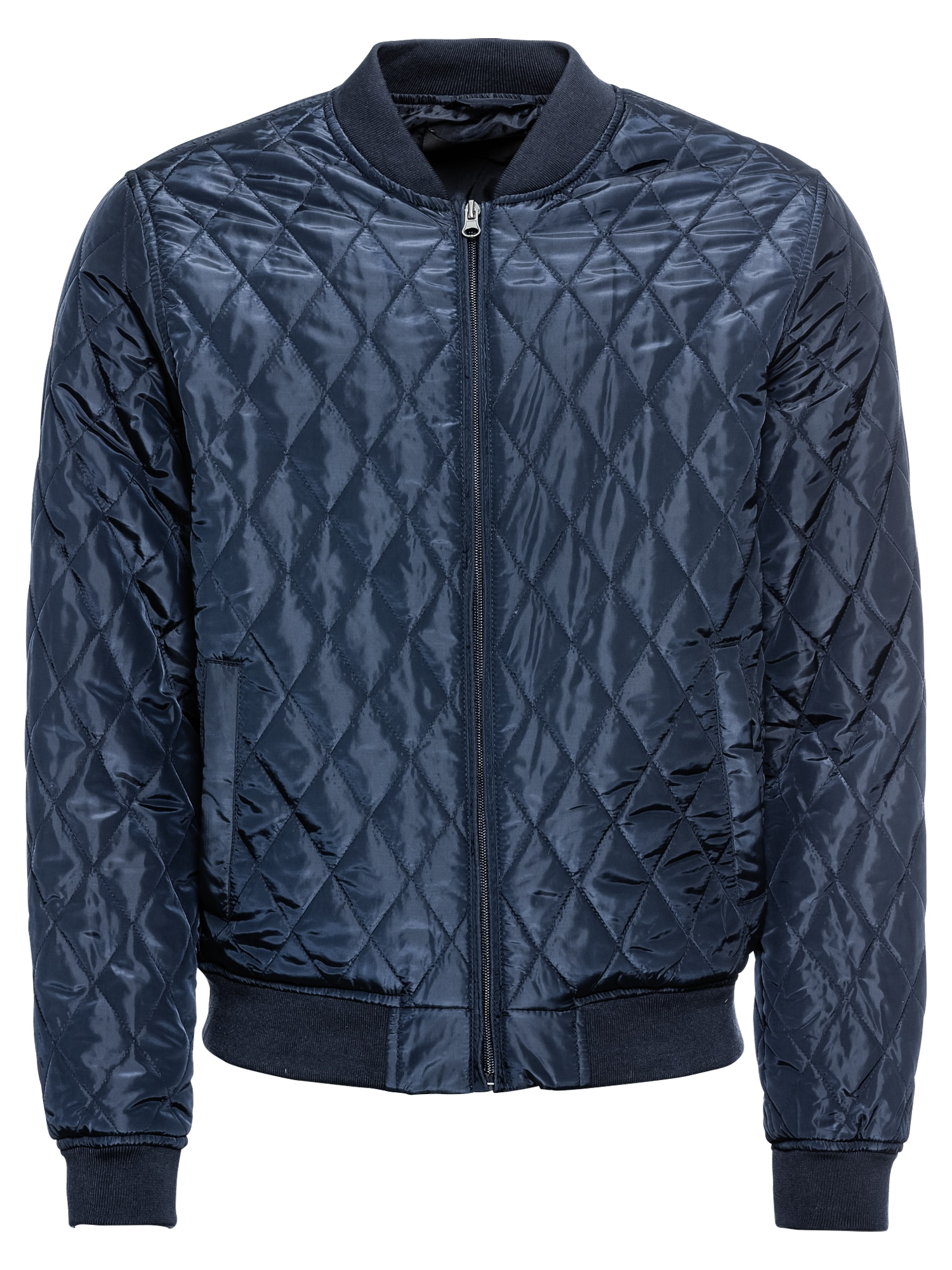 Přechodná bunda BASO QUILT VARSITY tmavě modrá KIOMI