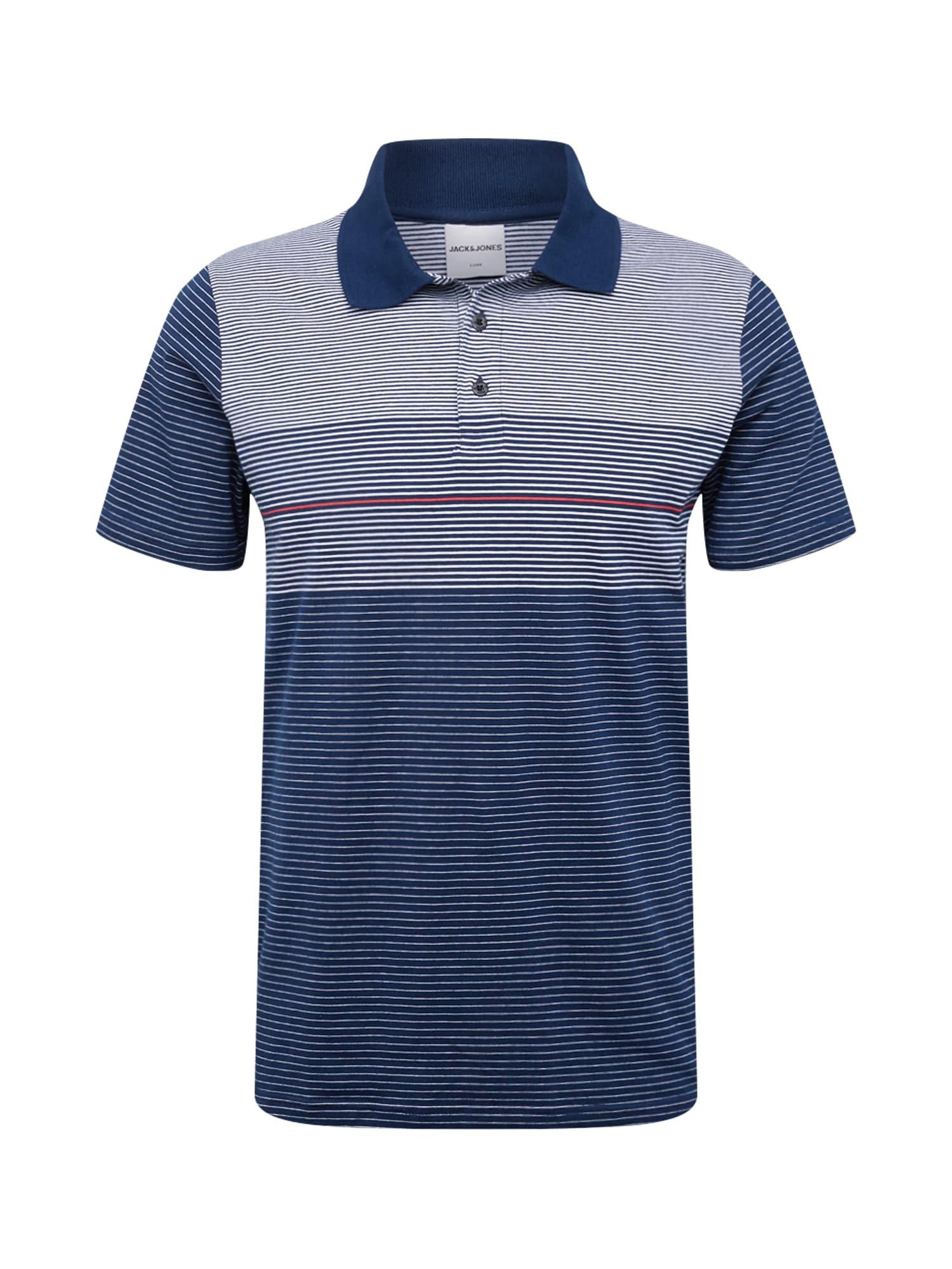 JACK & JONES Tričko  námořnická modř / bílá / korálová