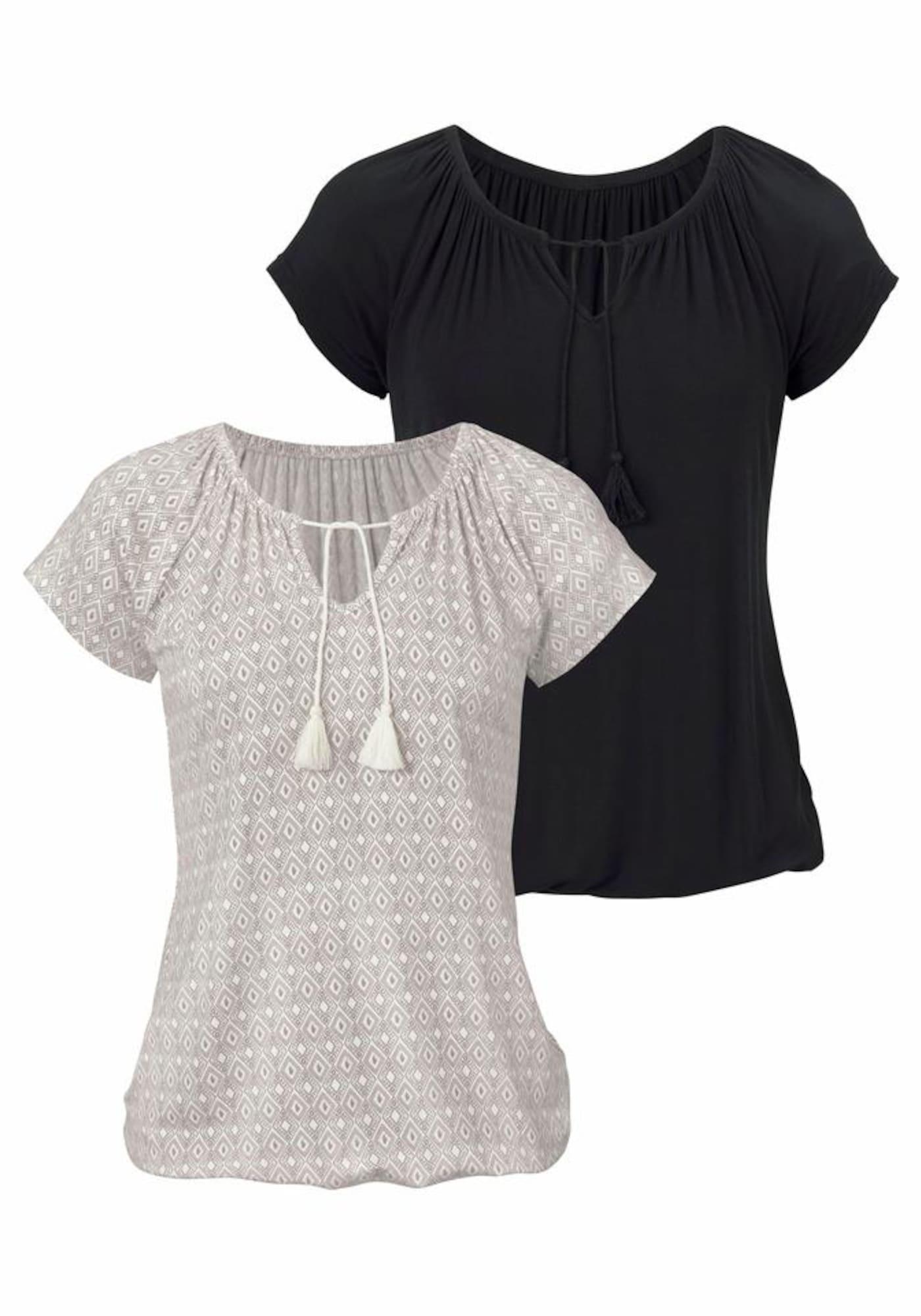 VIVANCE Marškinėliai kremo / juoda