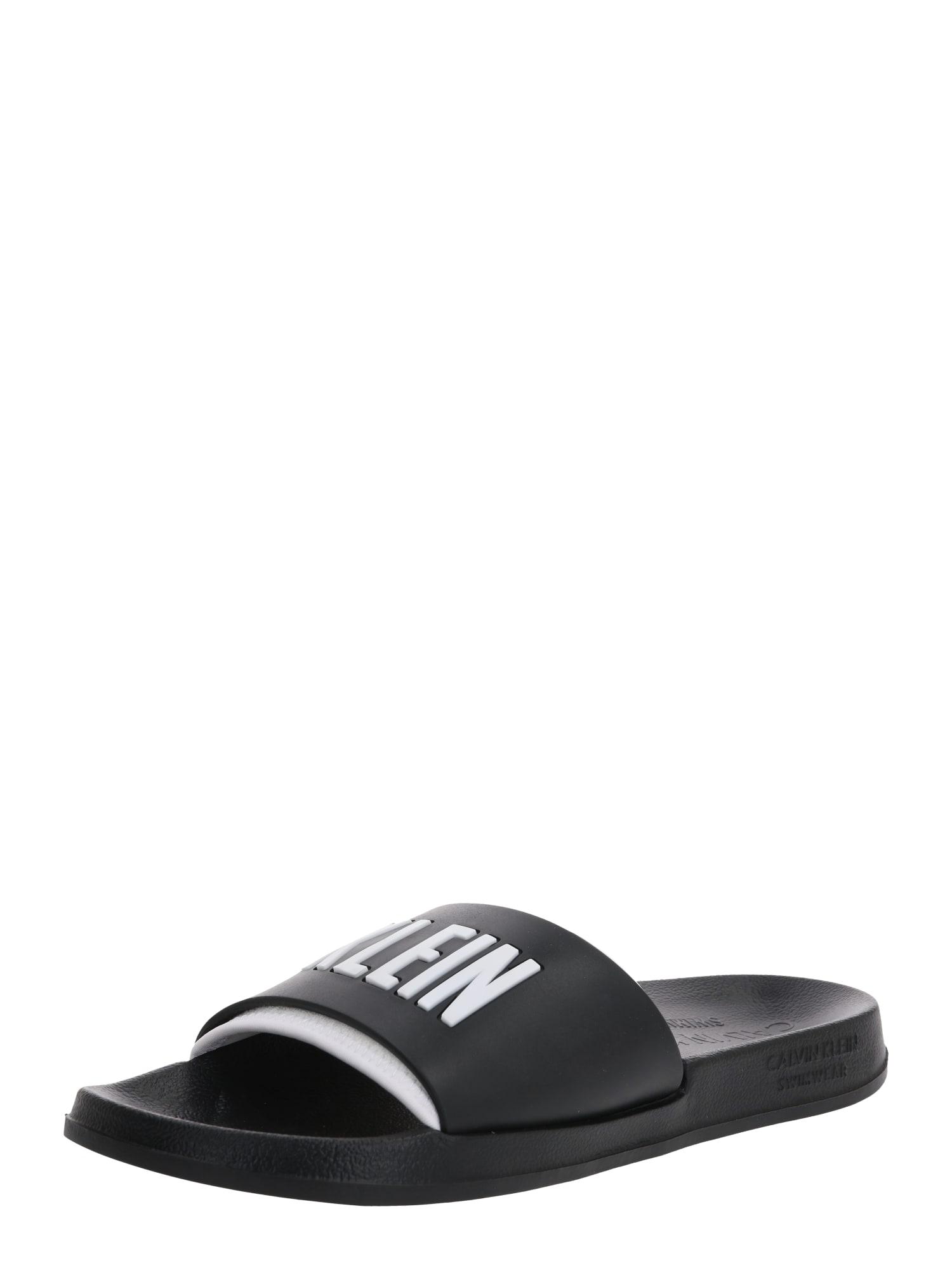 Calvin Klein Šľapky 'SLIDE'  čierna