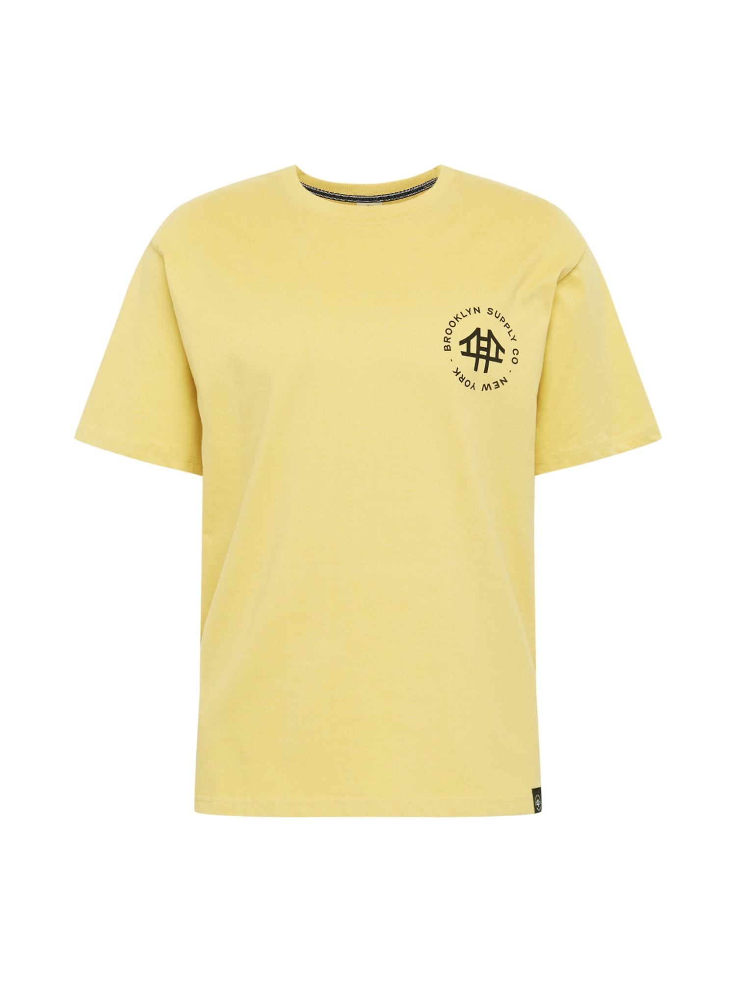 Brooklyn Supply Co. Marškinėliai geltona