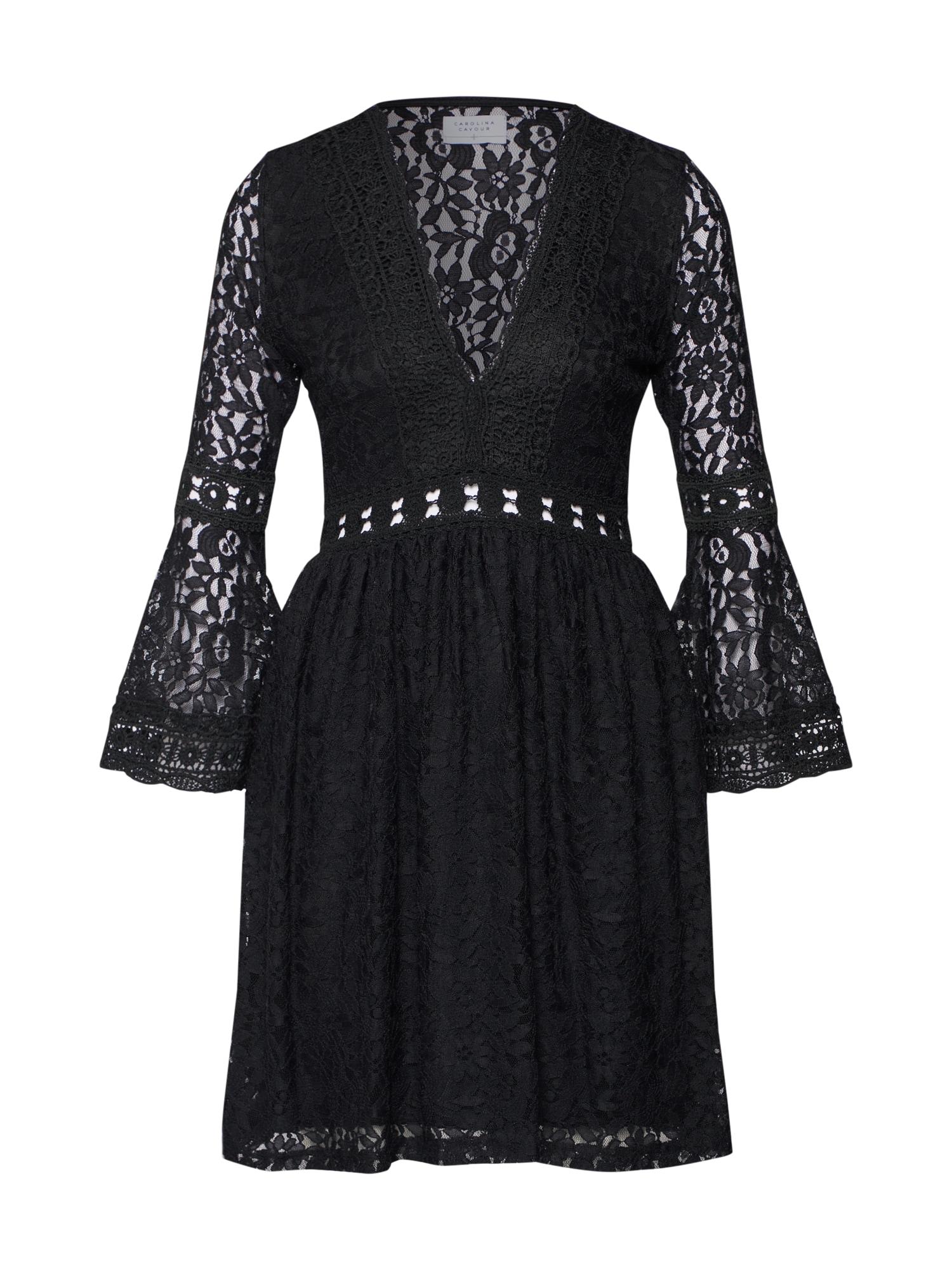 Šaty černá Carolina Cavour