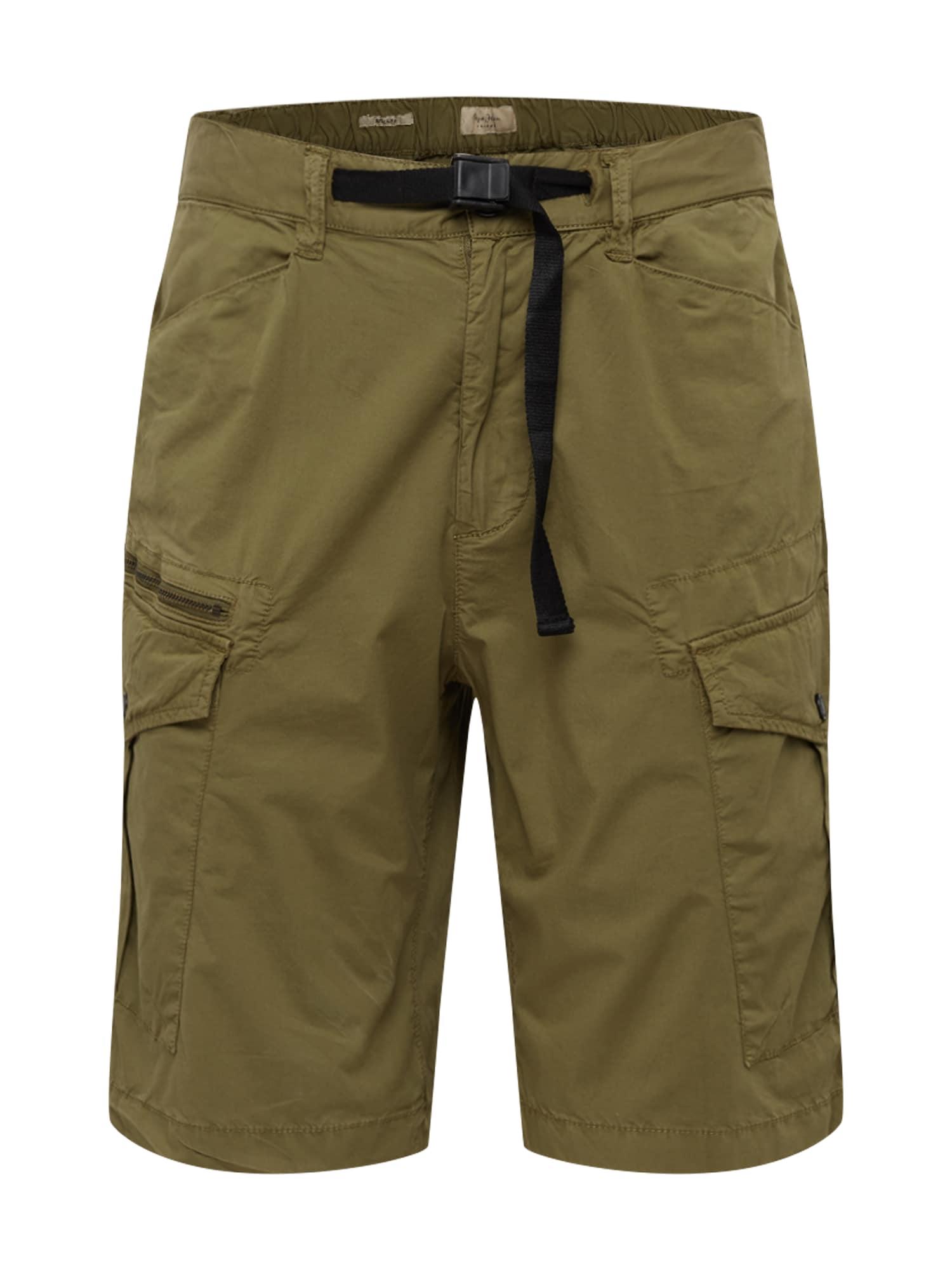 Pepe Jeans Laisvo stiliaus kelnės 'EXPEDIT' rusvai žalia