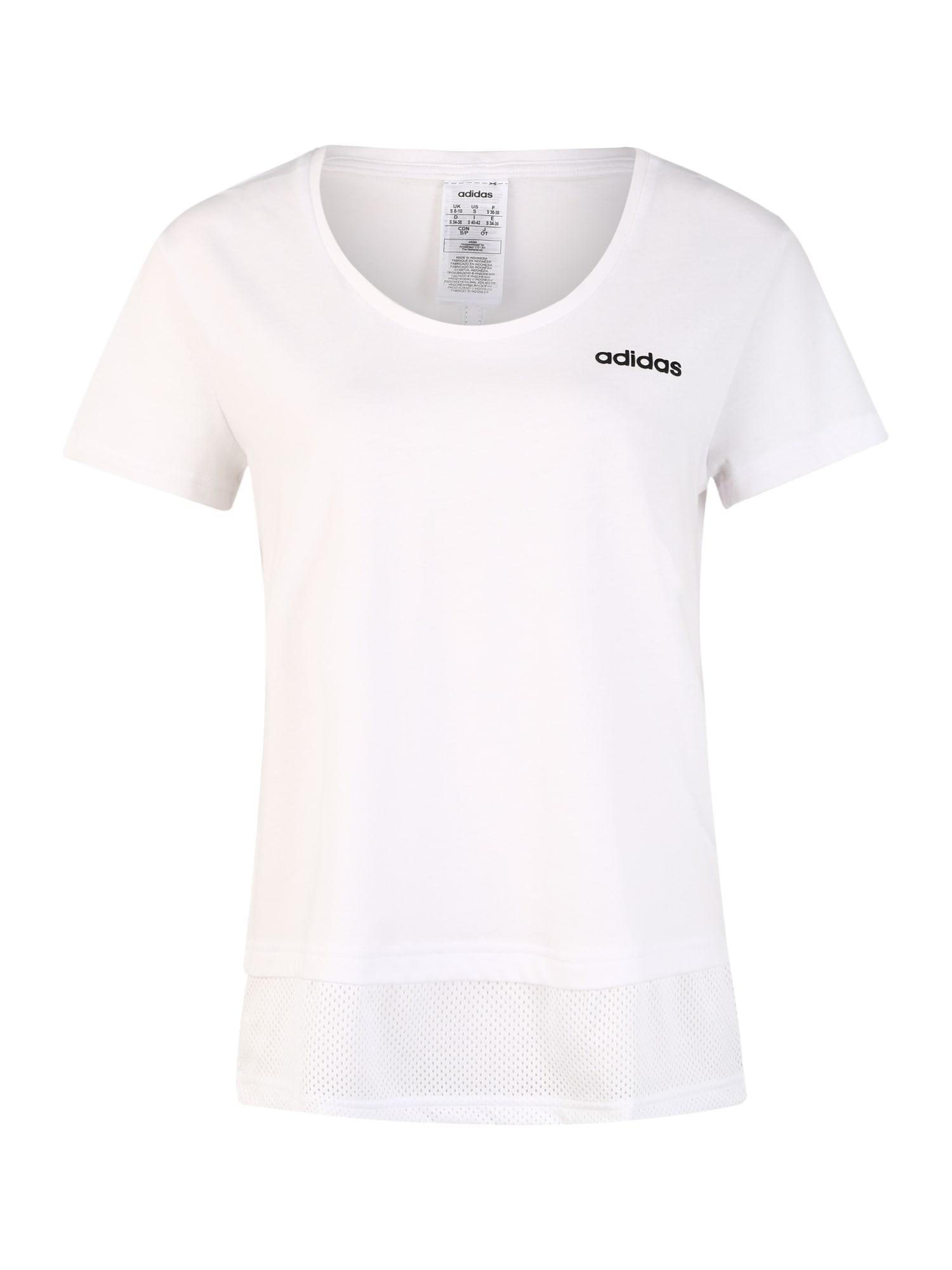 ADIDAS PERFORMANCE Sportiniai marškinėliai 'W E MM T' juoda / balta