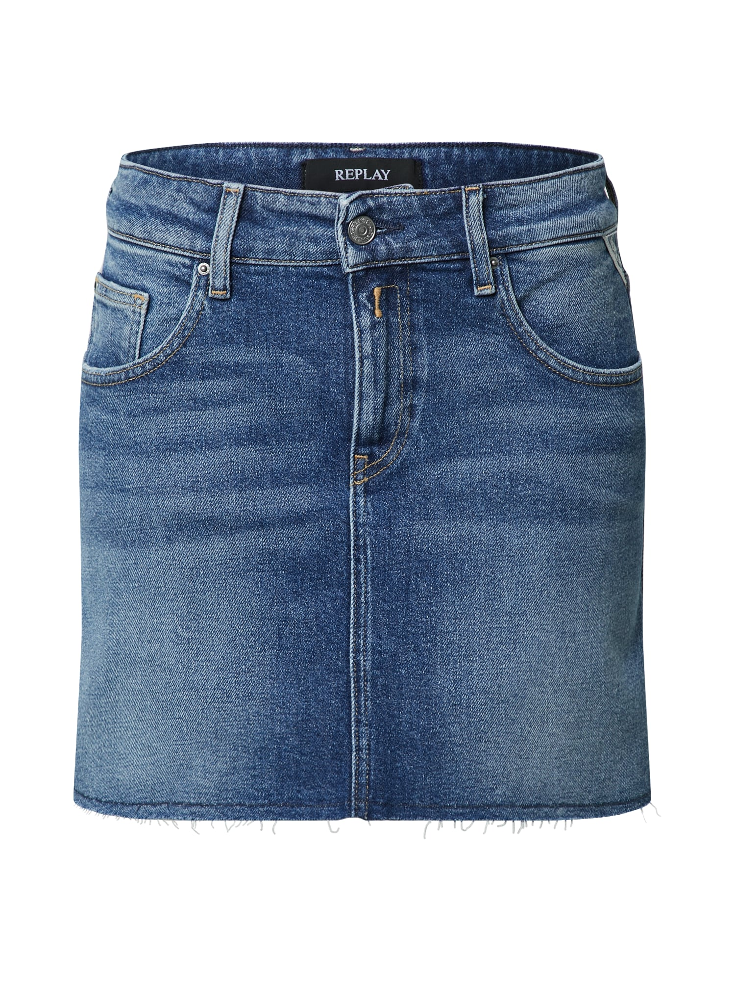 REPLAY Sijonas tamsiai (džinso) mėlyna