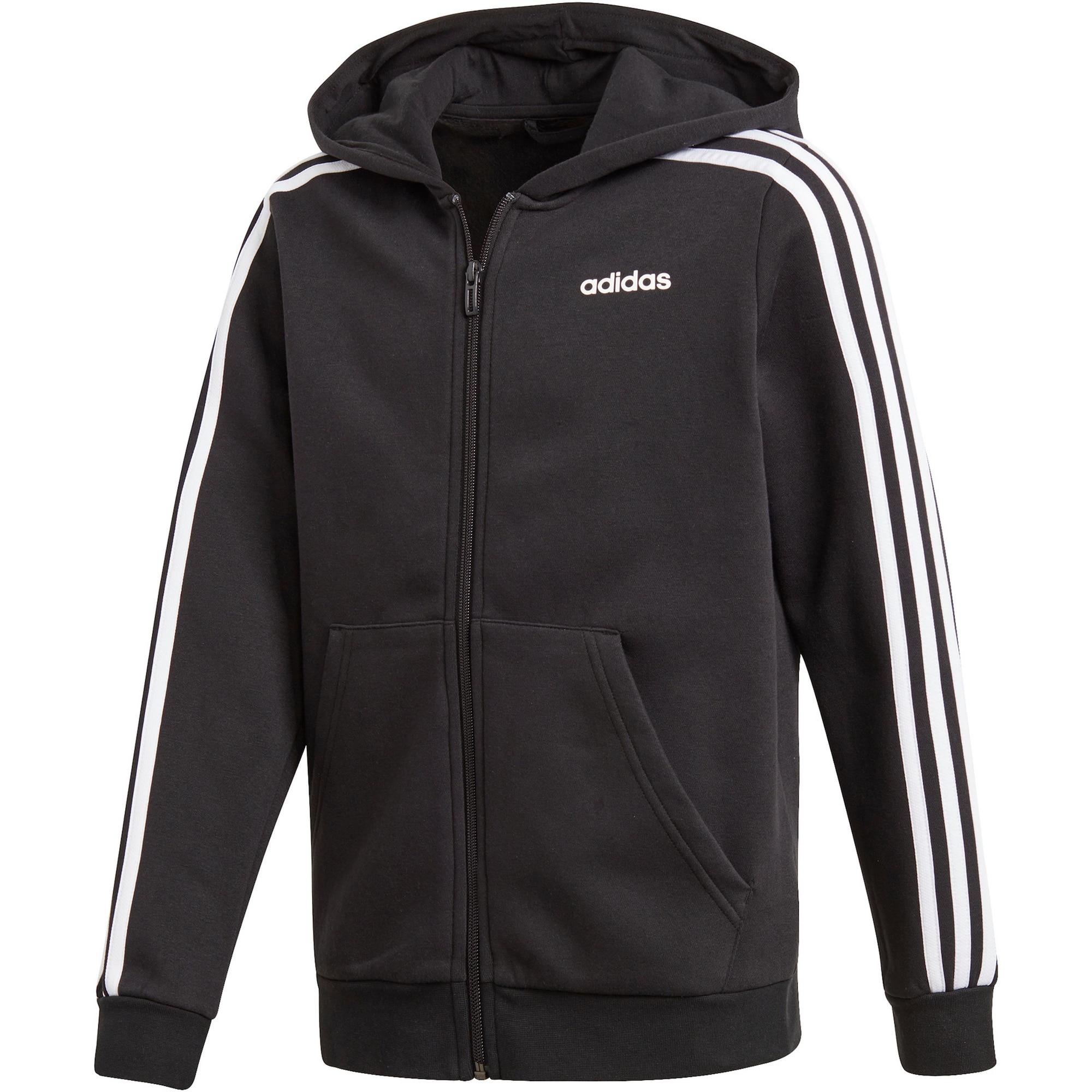 ADIDAS PERFORMANCE Sportinis džemperis balta / juoda