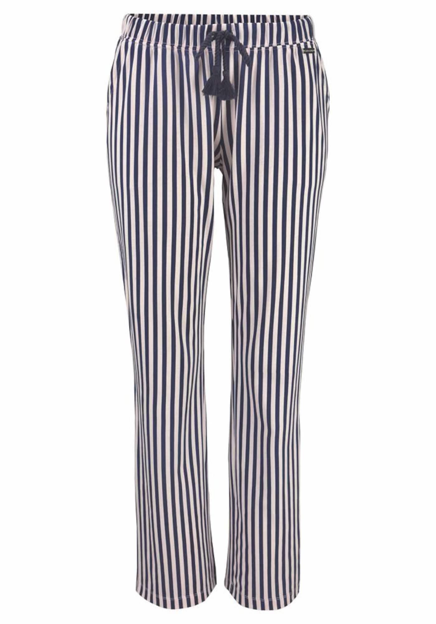 LASCANA Pižaminės kelnės kremo / tamsiai mėlyna