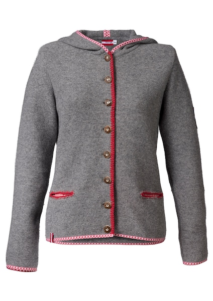 Jacken - Trachtenstrickjacke Damen mit Kapuze › Almgwand › grau  - Onlineshop ABOUT YOU