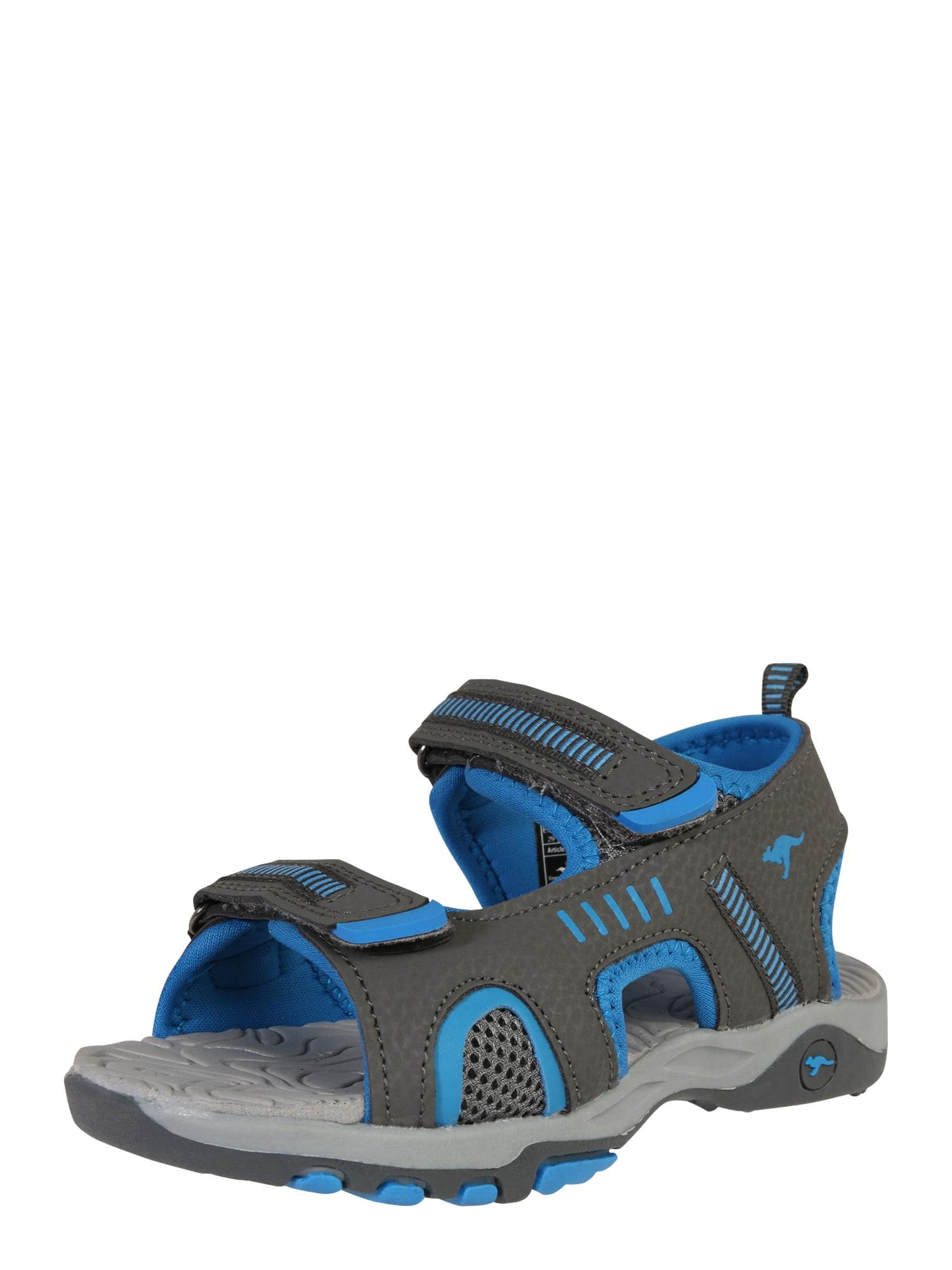 KangaROOS Atviri batai 'Logan' mėlyna / tamsiai pilka