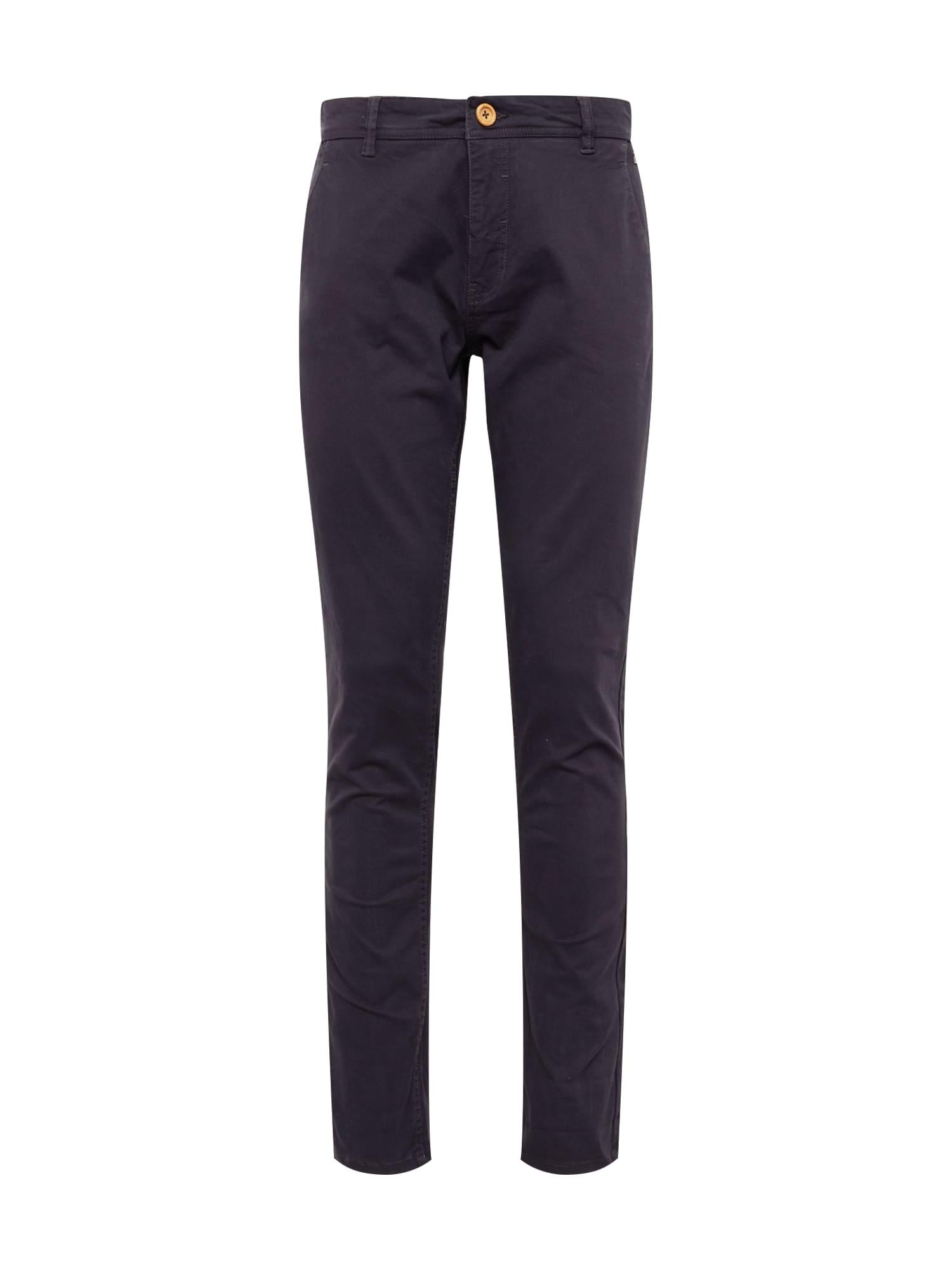 BLEND Chino nohavice 'NOOS'  námornícka modrá
