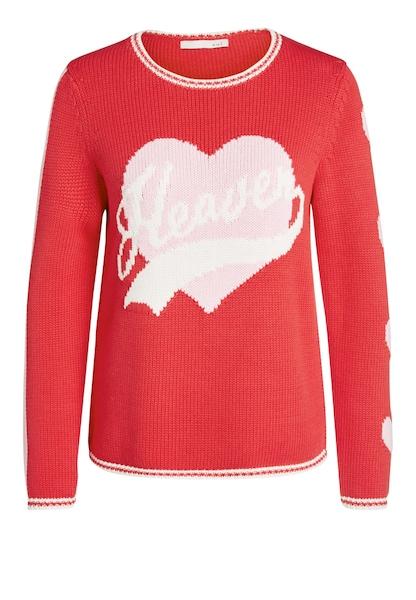 Oberteile für Frauen - OUI Pullover rosa hellrot weiß  - Onlineshop ABOUT YOU