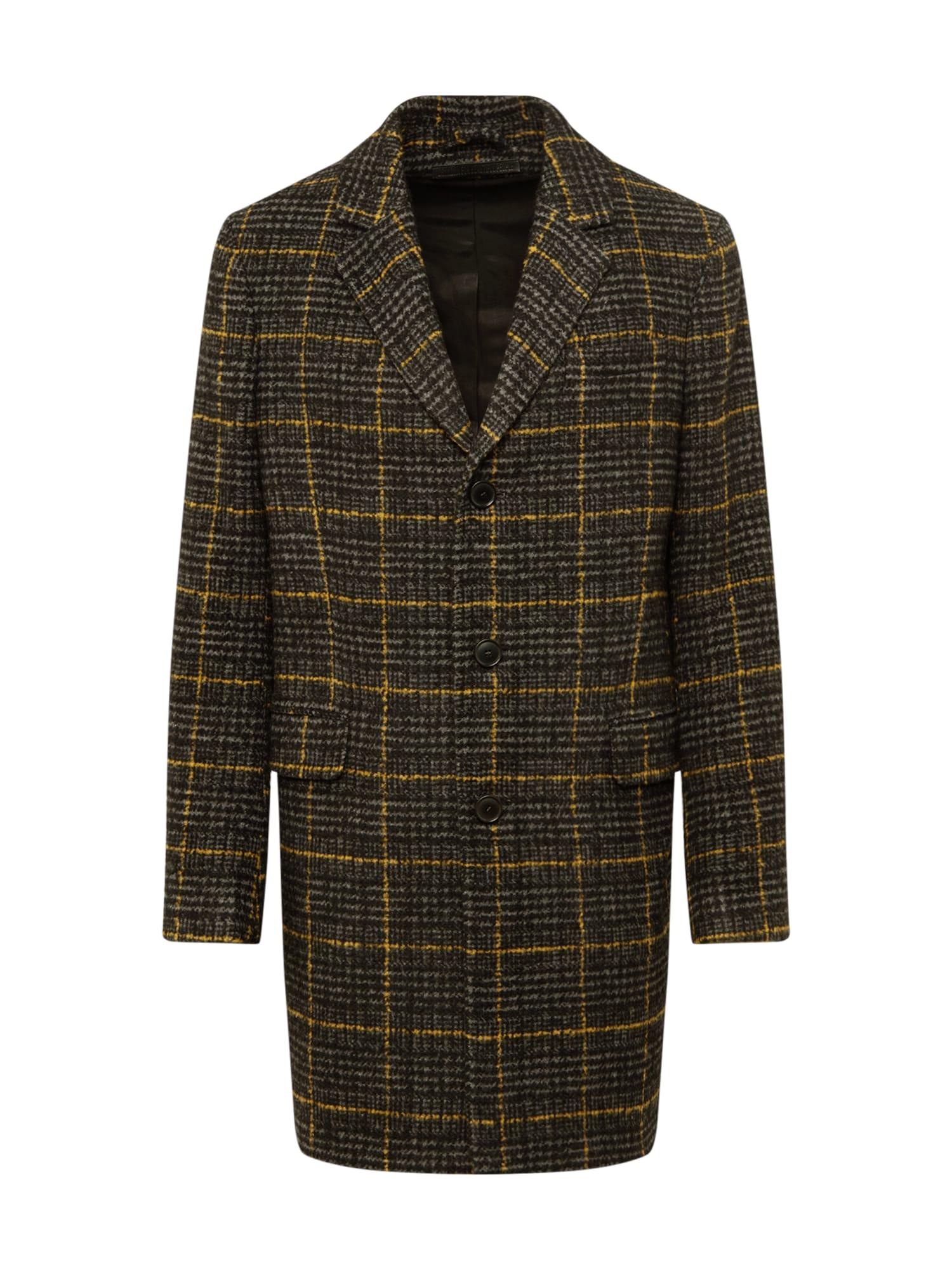 DRYKORN Rudeninis-žieminis paltas 'BLACOT' geltona / juoda