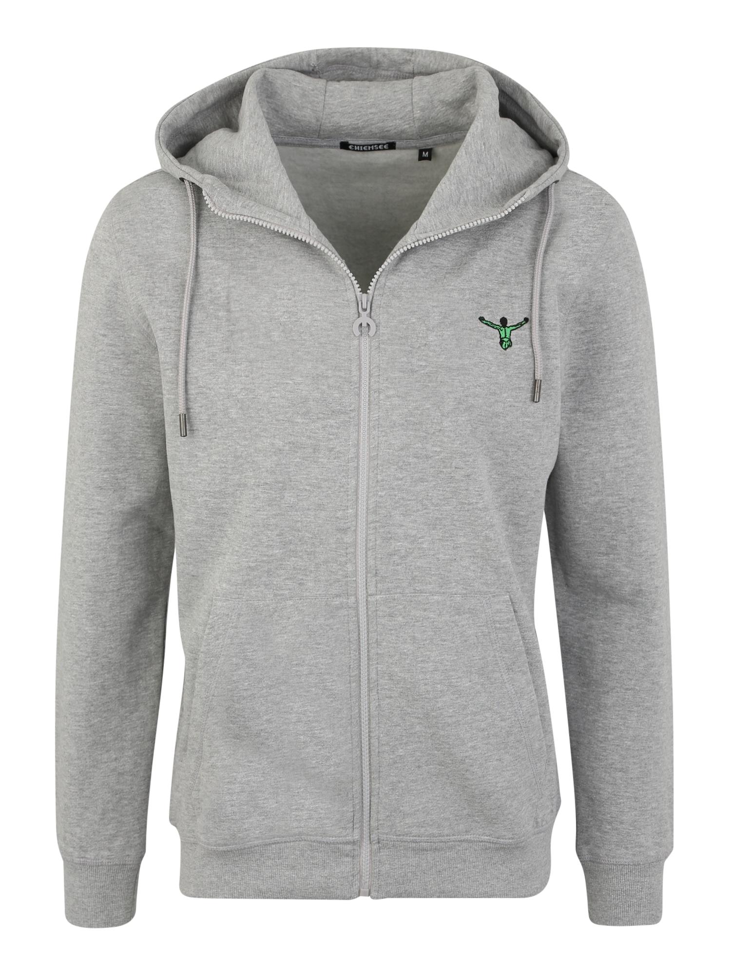 CHIEMSEE Sportinis džemperis šviesiai pilka / žalia