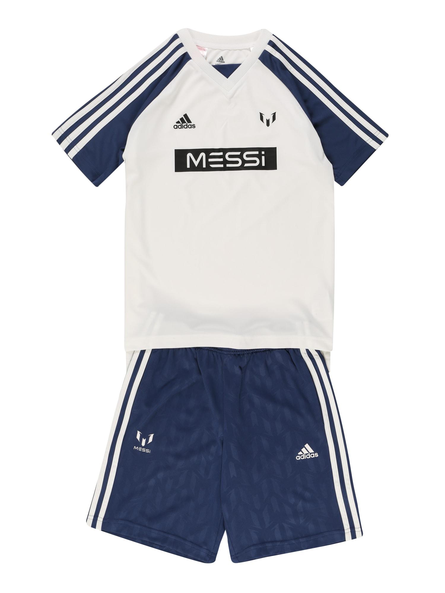 ADIDAS PERFORMANCE Treniruočių kostiumas balta / mėlyna