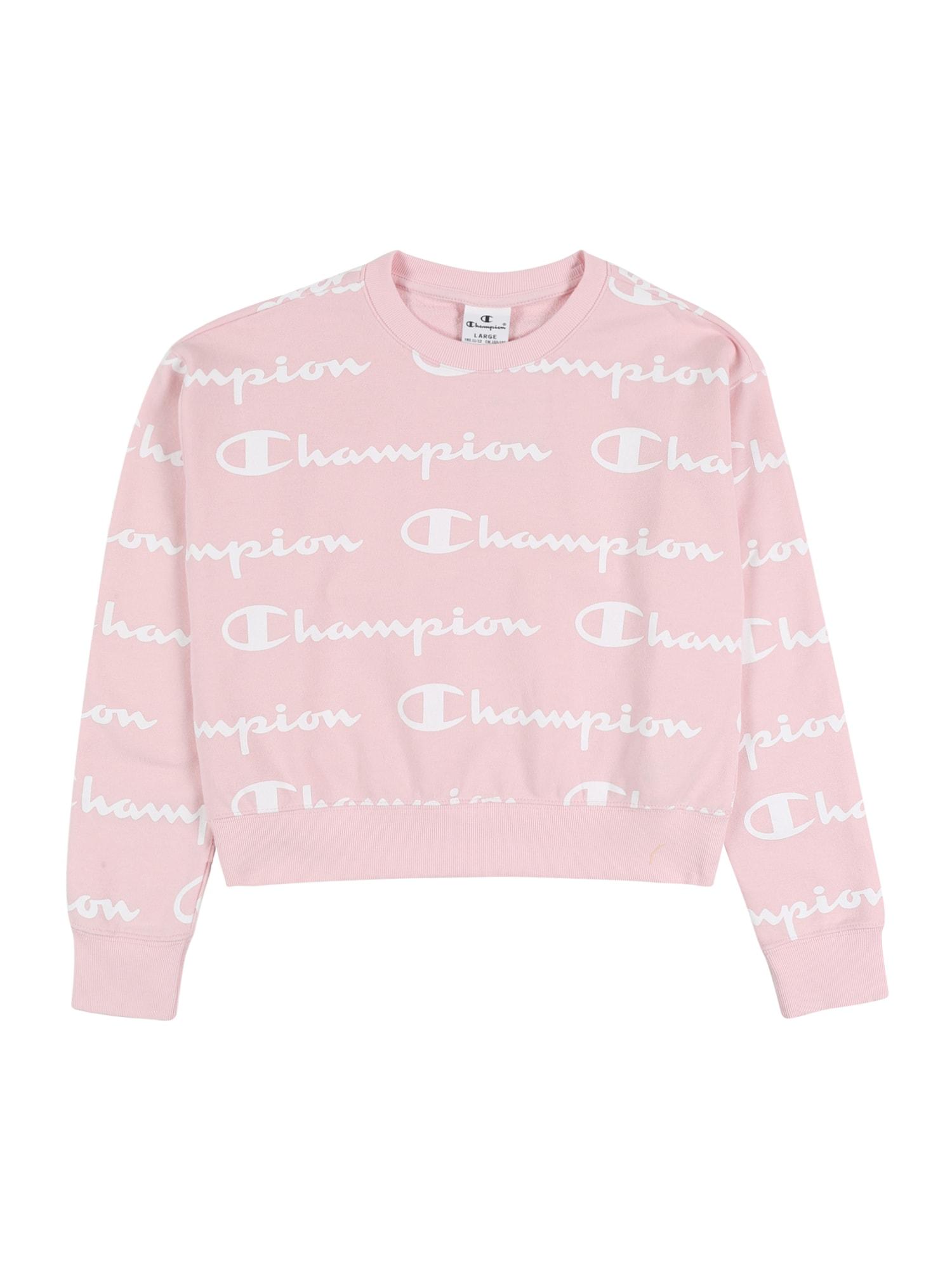 Champion Authentic Athletic Apparel Megztinis be užsegimo rožių spalva / balta