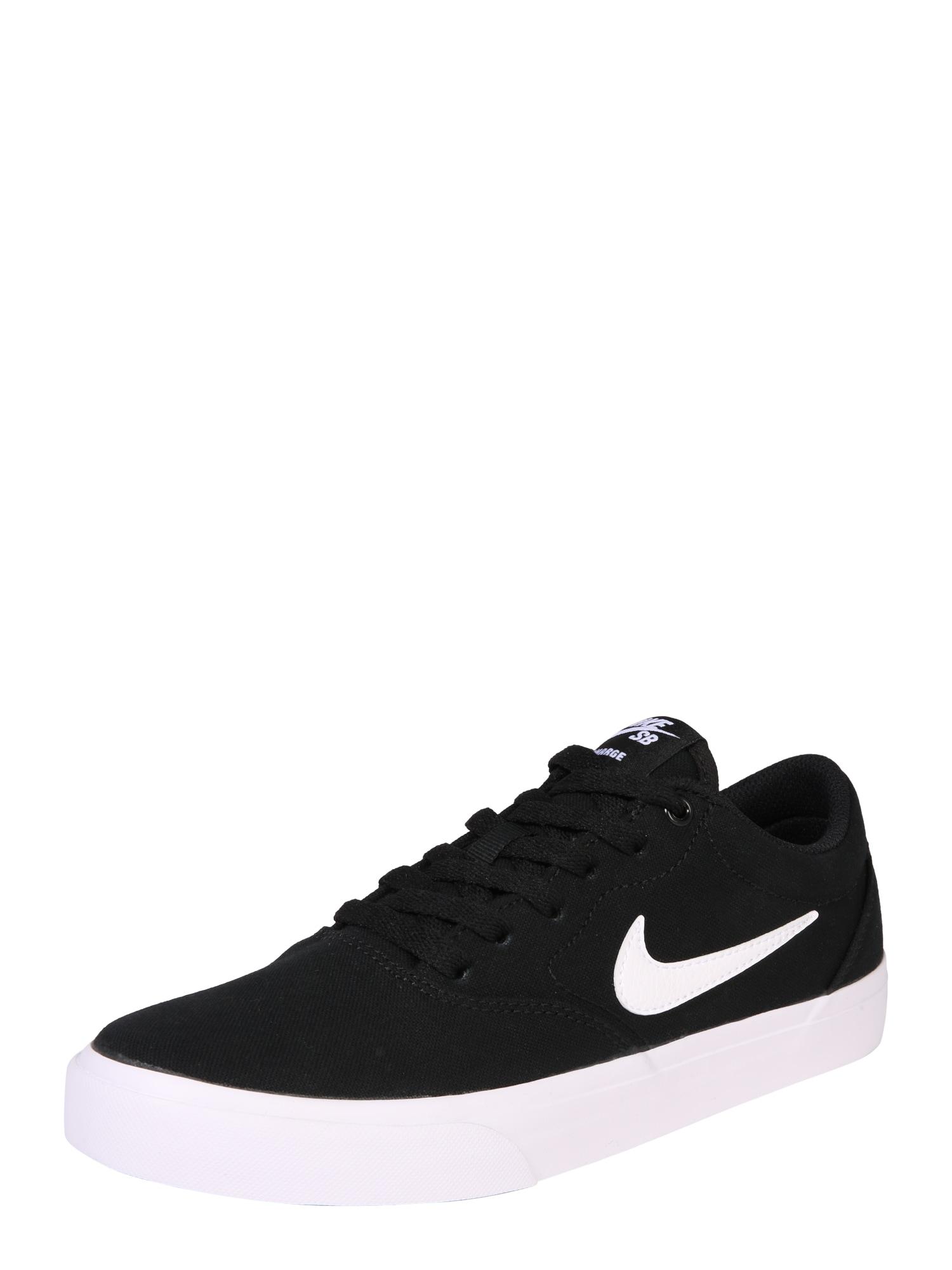 Nike SB Nízke tenisky 'CHARGE SLR'  biela / čierna