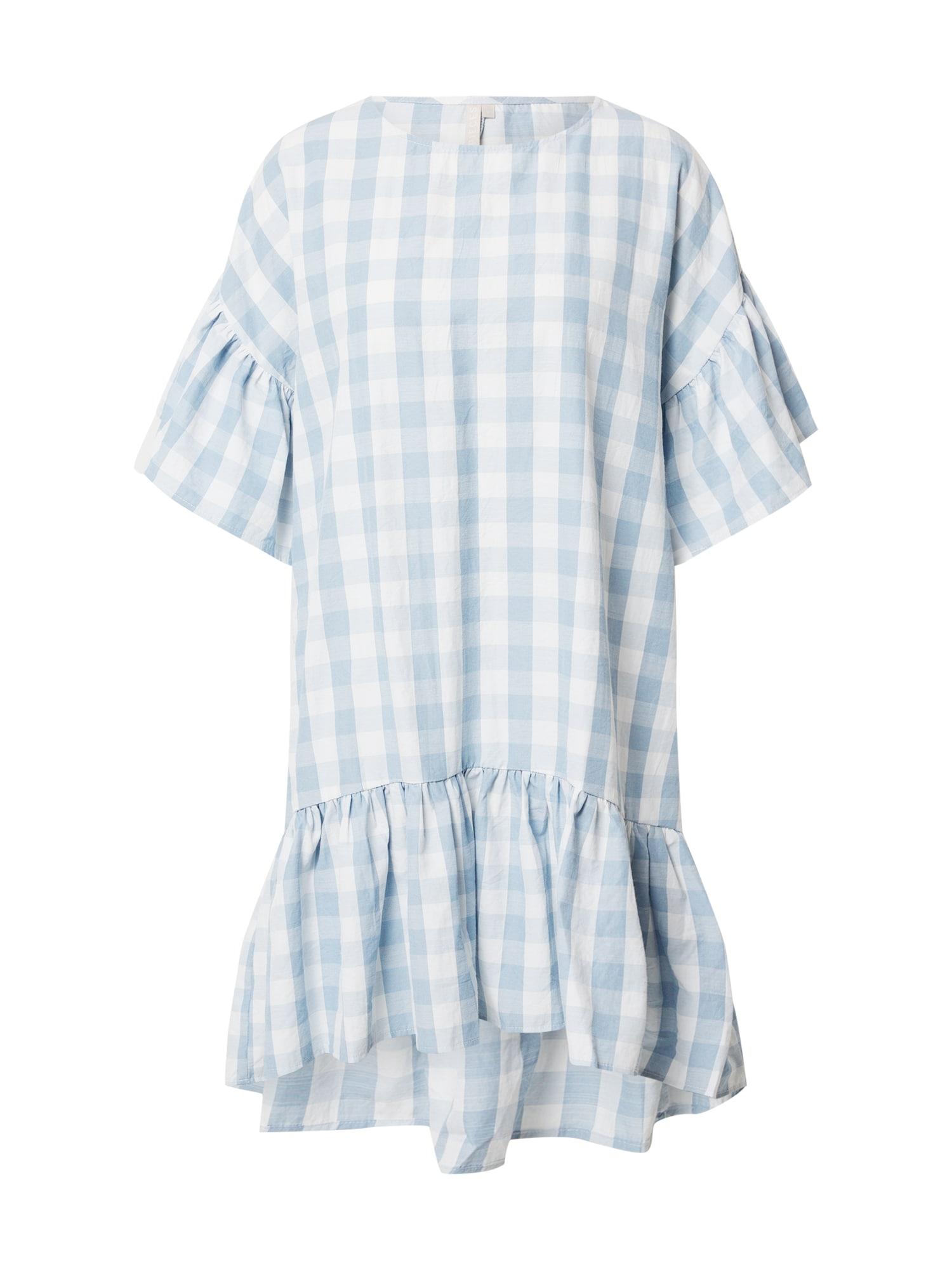 PIECES Šaty 'Mary'  biela / modré