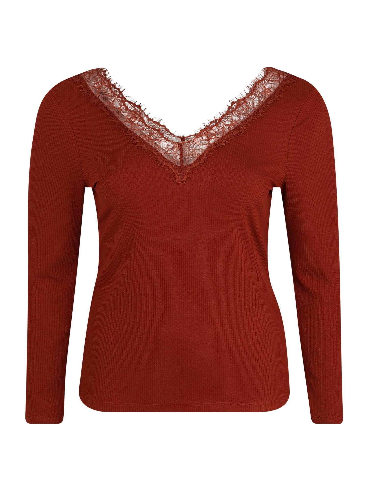 ABOUT YOU Curvy Marškinėliai 'Maithe Shirt' rūdžių raudona