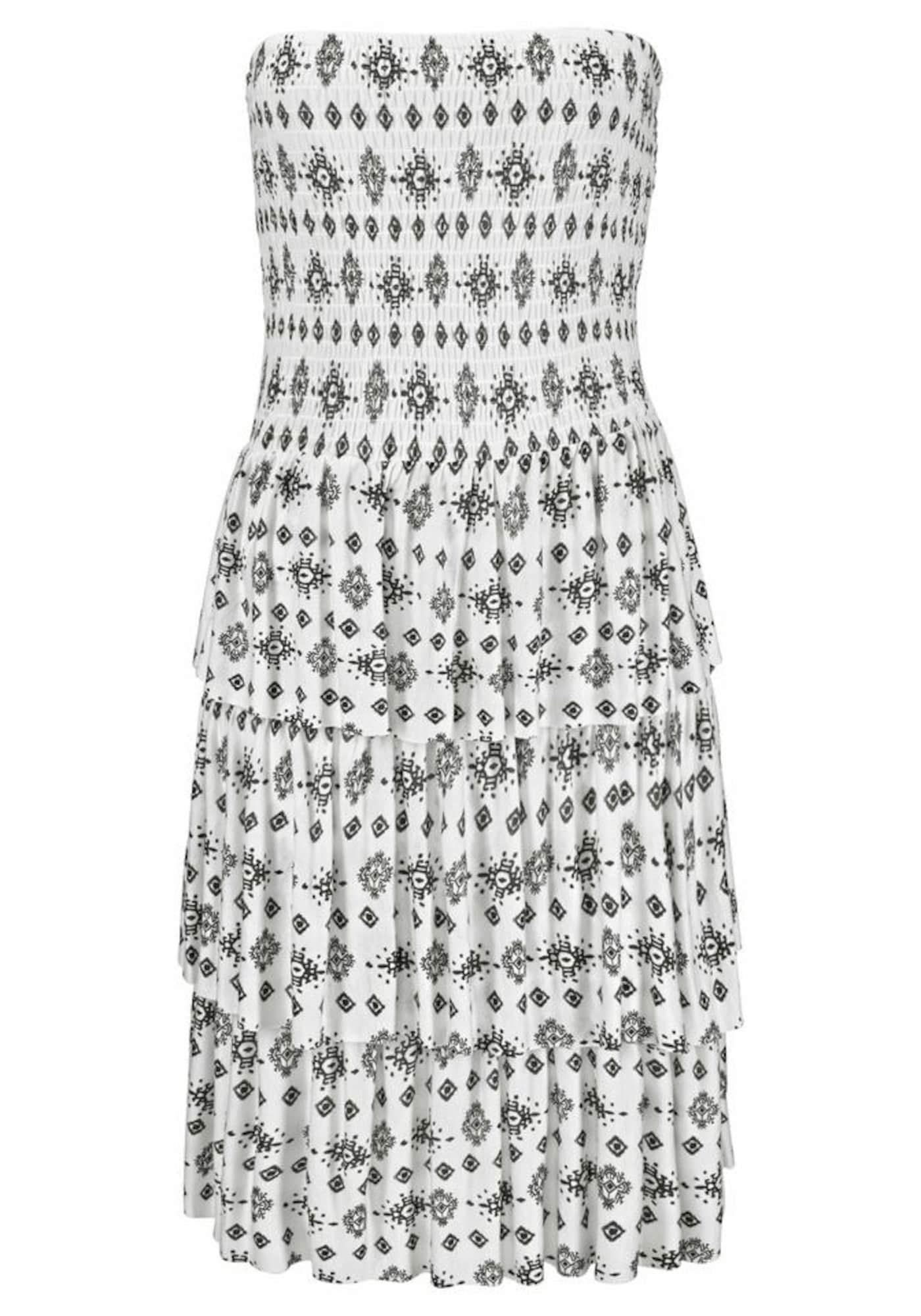 Plážové šaty černá bílá LASCANA