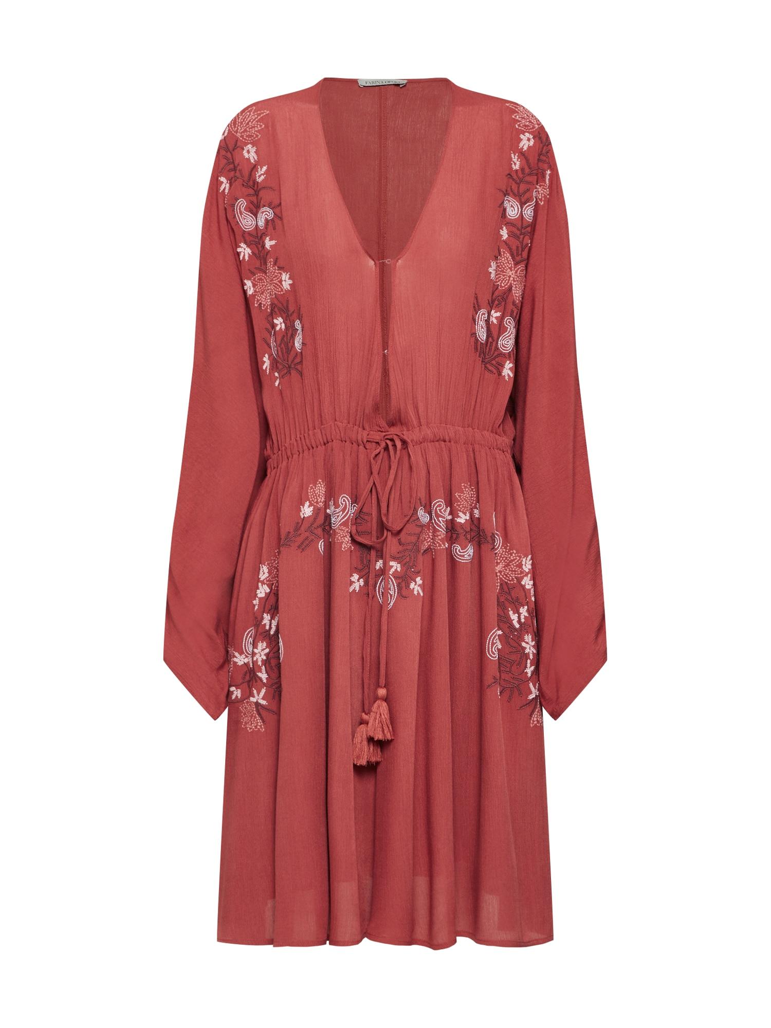 Farina Opoku Vasarinė suknelė 'SAHIRA' vyno raudona spalva