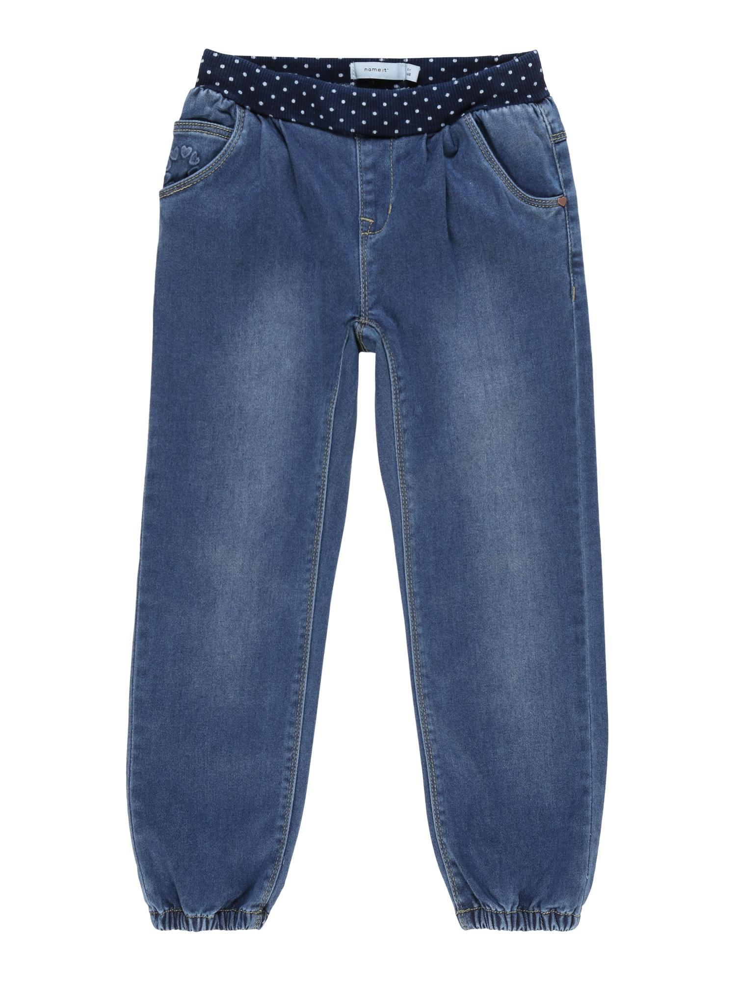 NAME IT Džinsai nakties mėlyna / tamsiai (džinso) mėlyna / natūrali balta