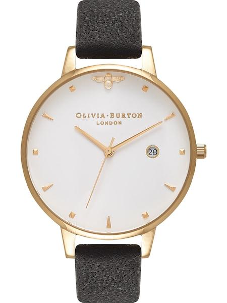 Uhren für Frauen - Olivia Burton Damenuhr 'Queen Bee' gold schwarz weiß  - Onlineshop ABOUT YOU