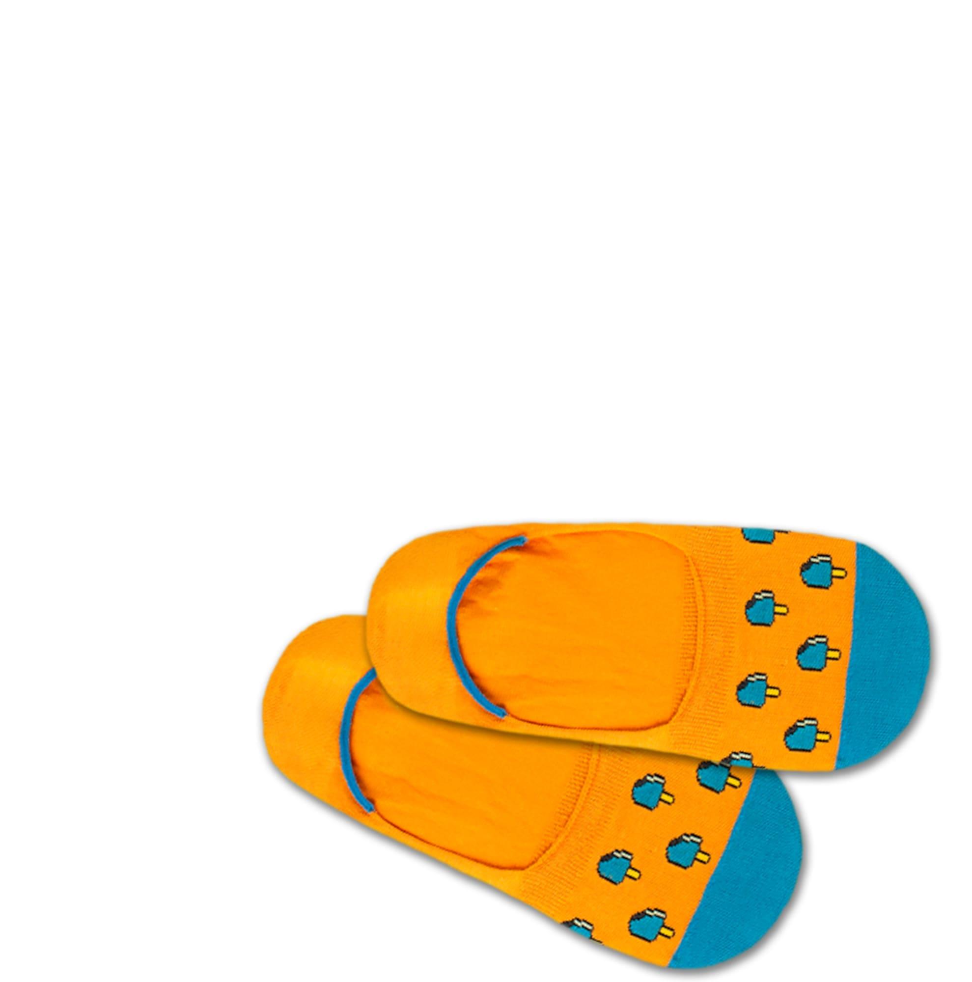 DillySocks Kojinaitės 'Hidden Ice' mėlyna / oranžinė