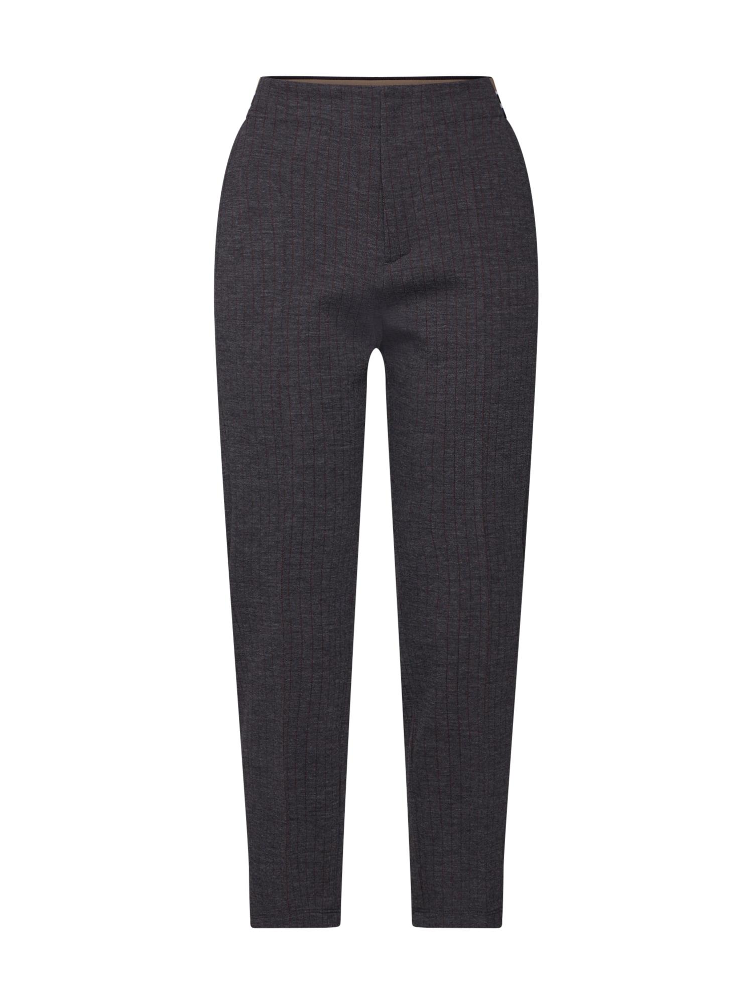 BOSS Kelnės su kantu 'Suoki' pilka