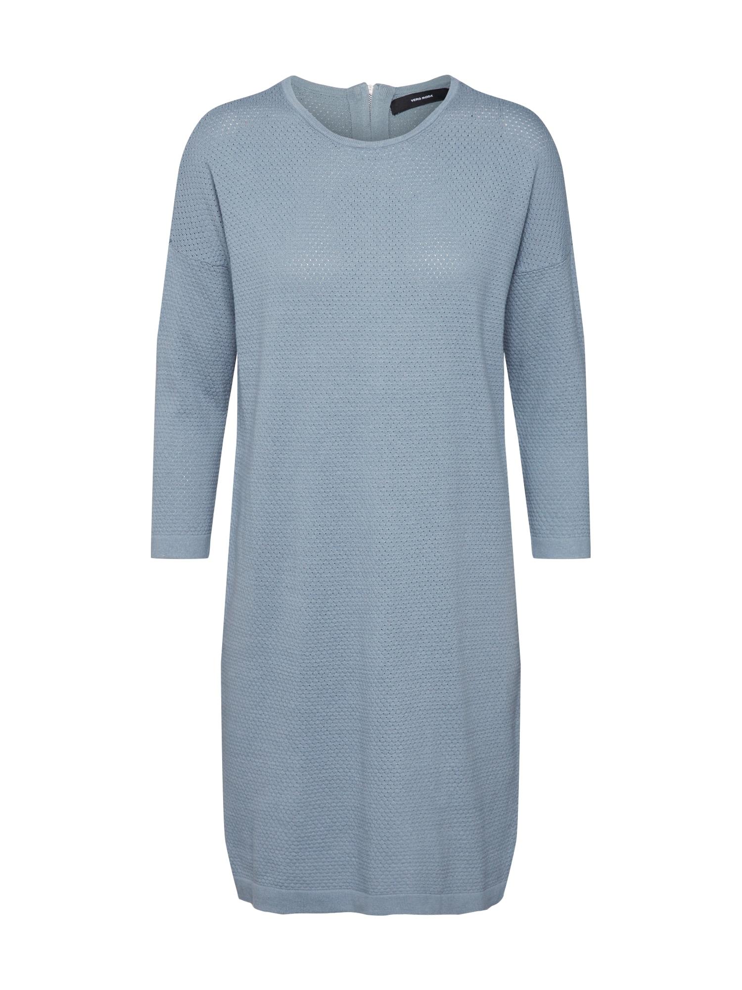 VERO MODA Pletené šaty 'VMMINNIECARE'  dymovo modrá