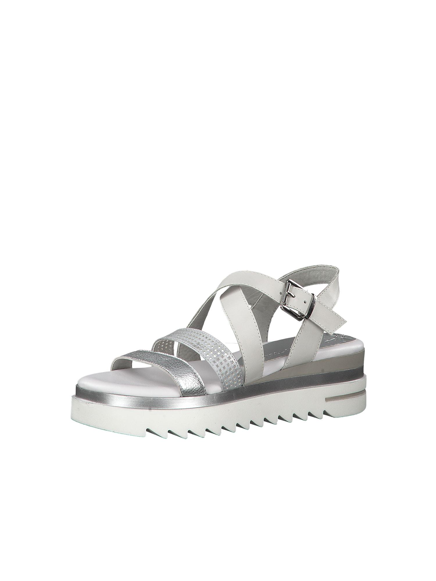 MARCO TOZZI Sandalai sidabras / balta