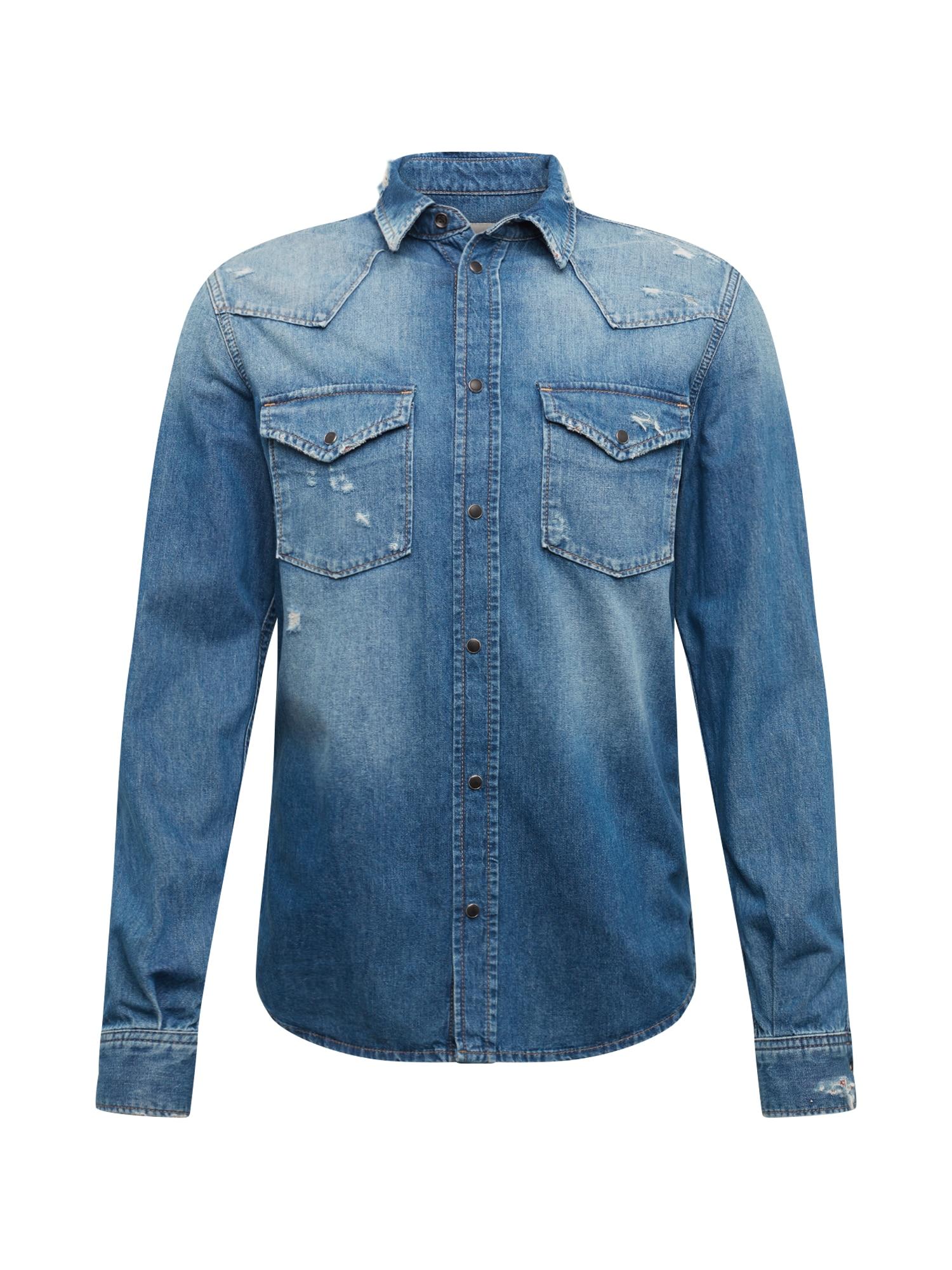Pepe Jeans Dalykiniai marškiniai 'NOAH' mėlyna
