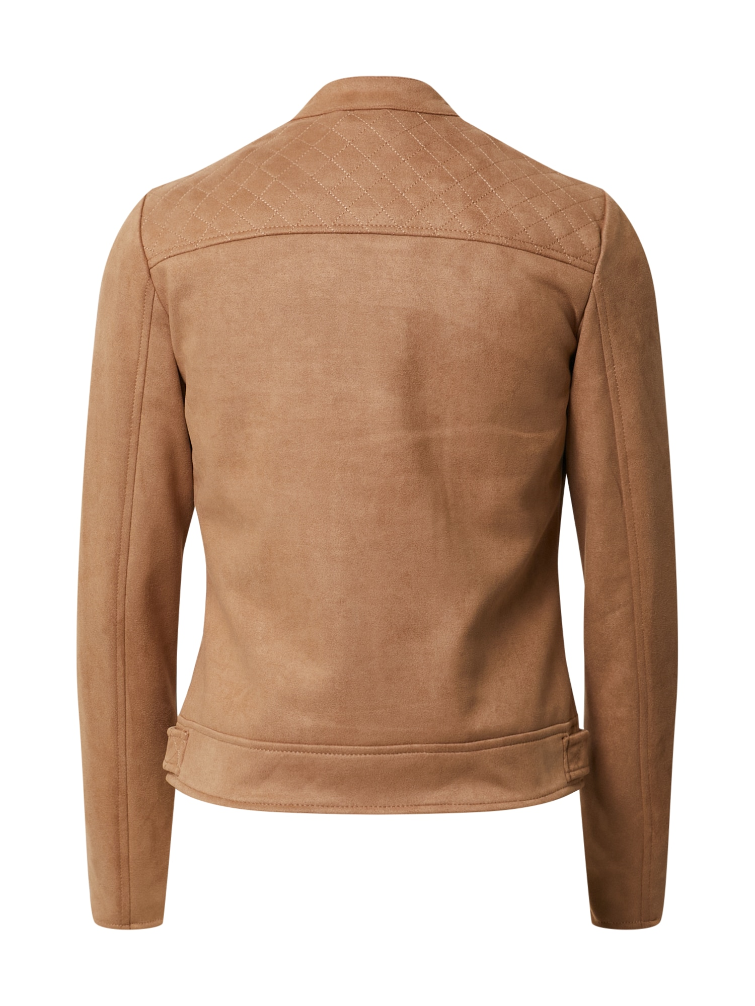 dorothy perkins - Lederjacke 'Tan Suedette Collarless Jacket'