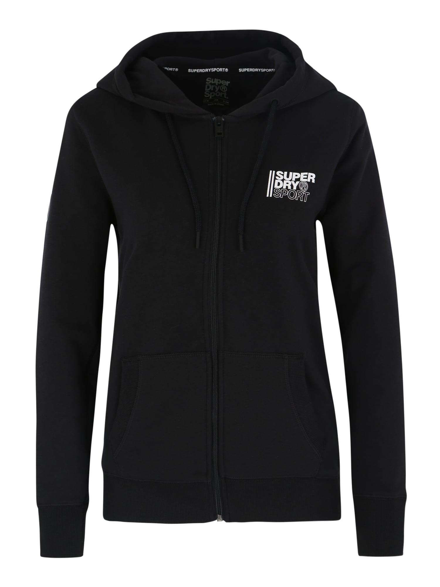 Superdry Sportinis džemperis 'Core Sport Ziphood' juoda