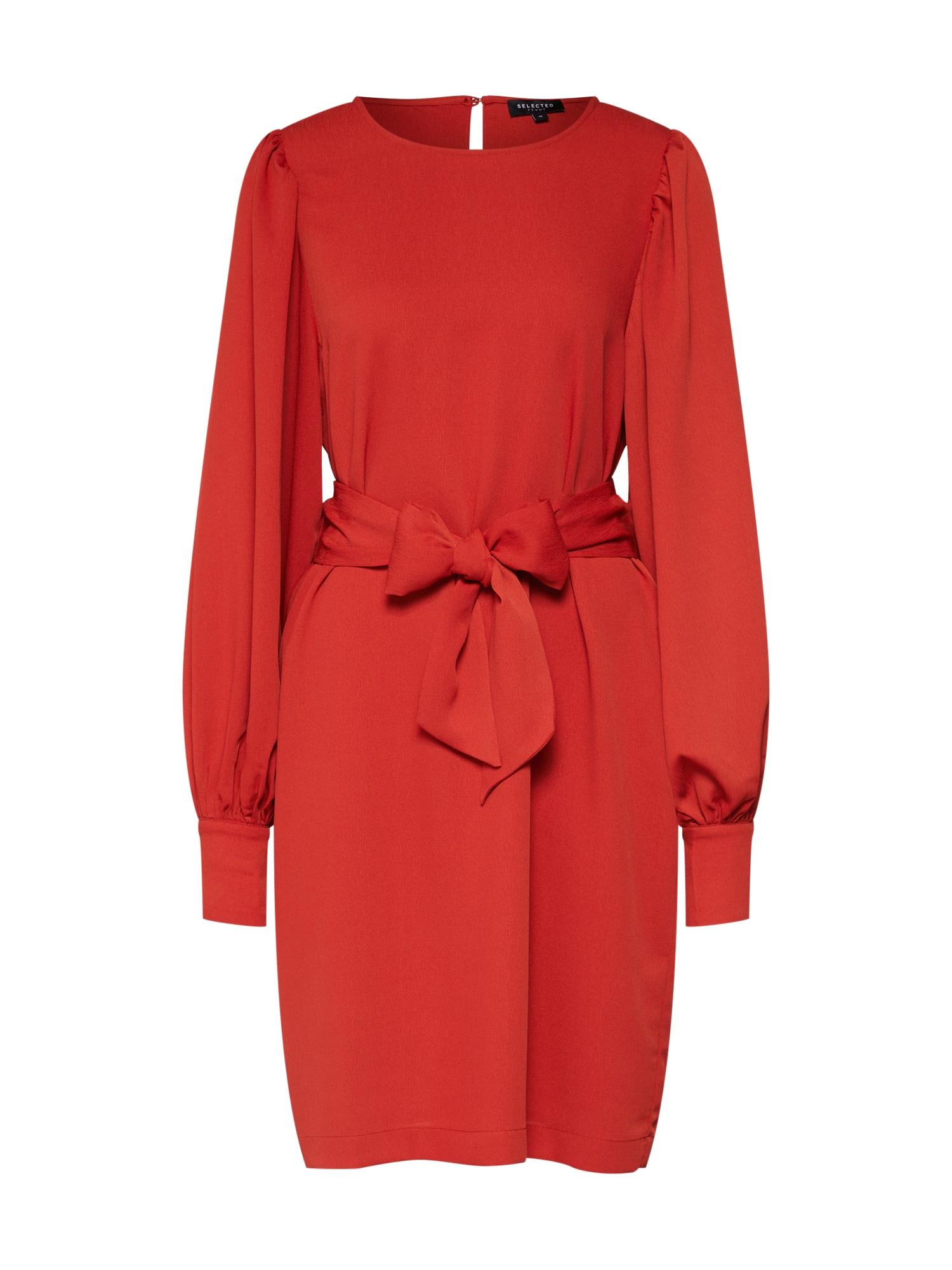 SELECTED FEMME Letní šaty  červená