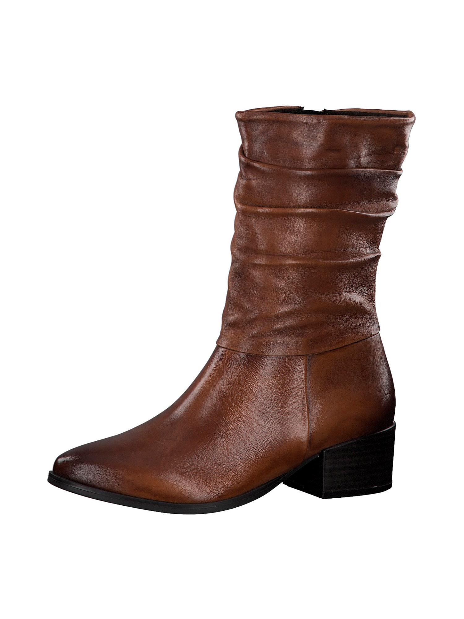 MARCO TOZZI Auliniai batai su kulniuku karamelės
